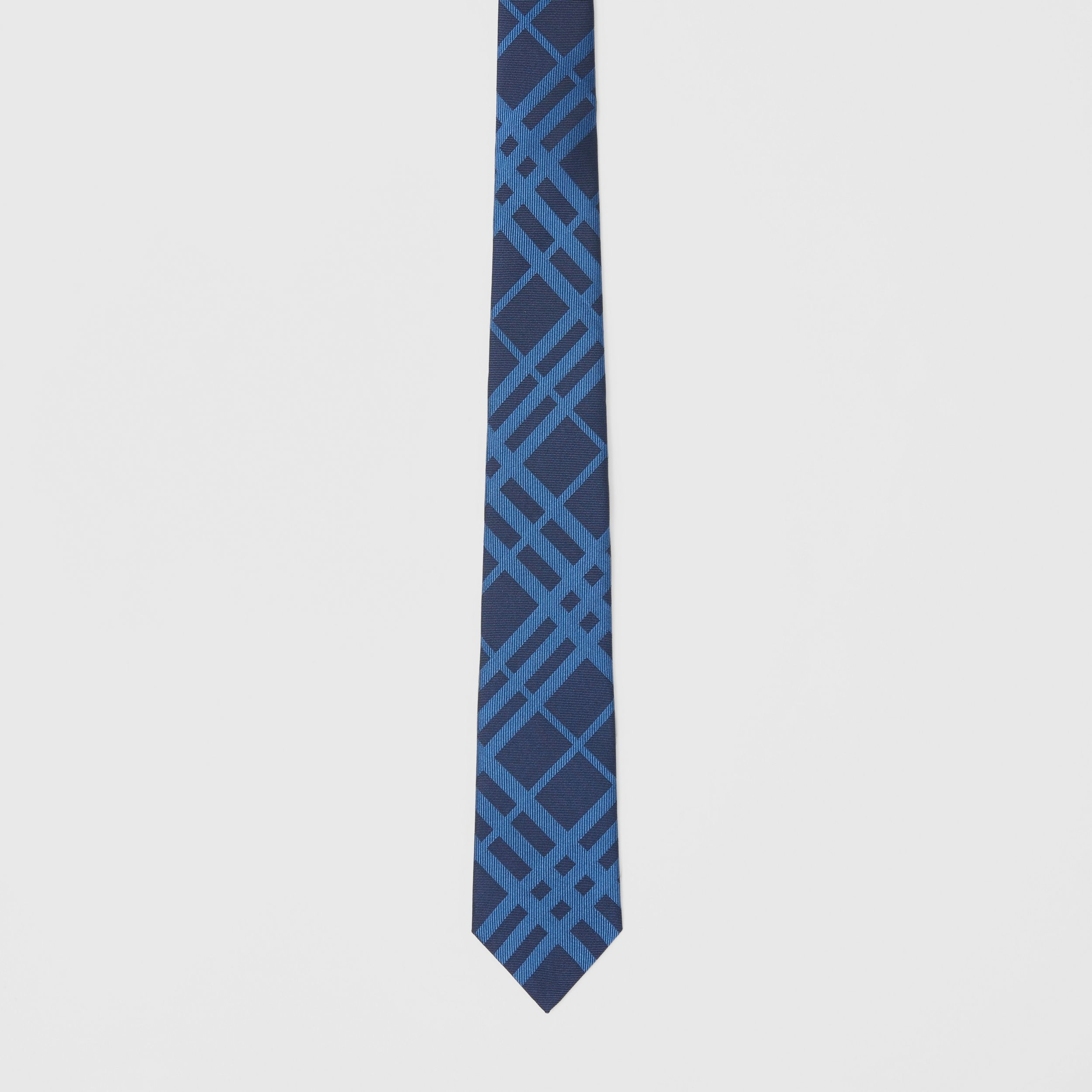 Classic Cut Check Silk Jacquard Tie in Ink Blue - Men | Burberry - 4