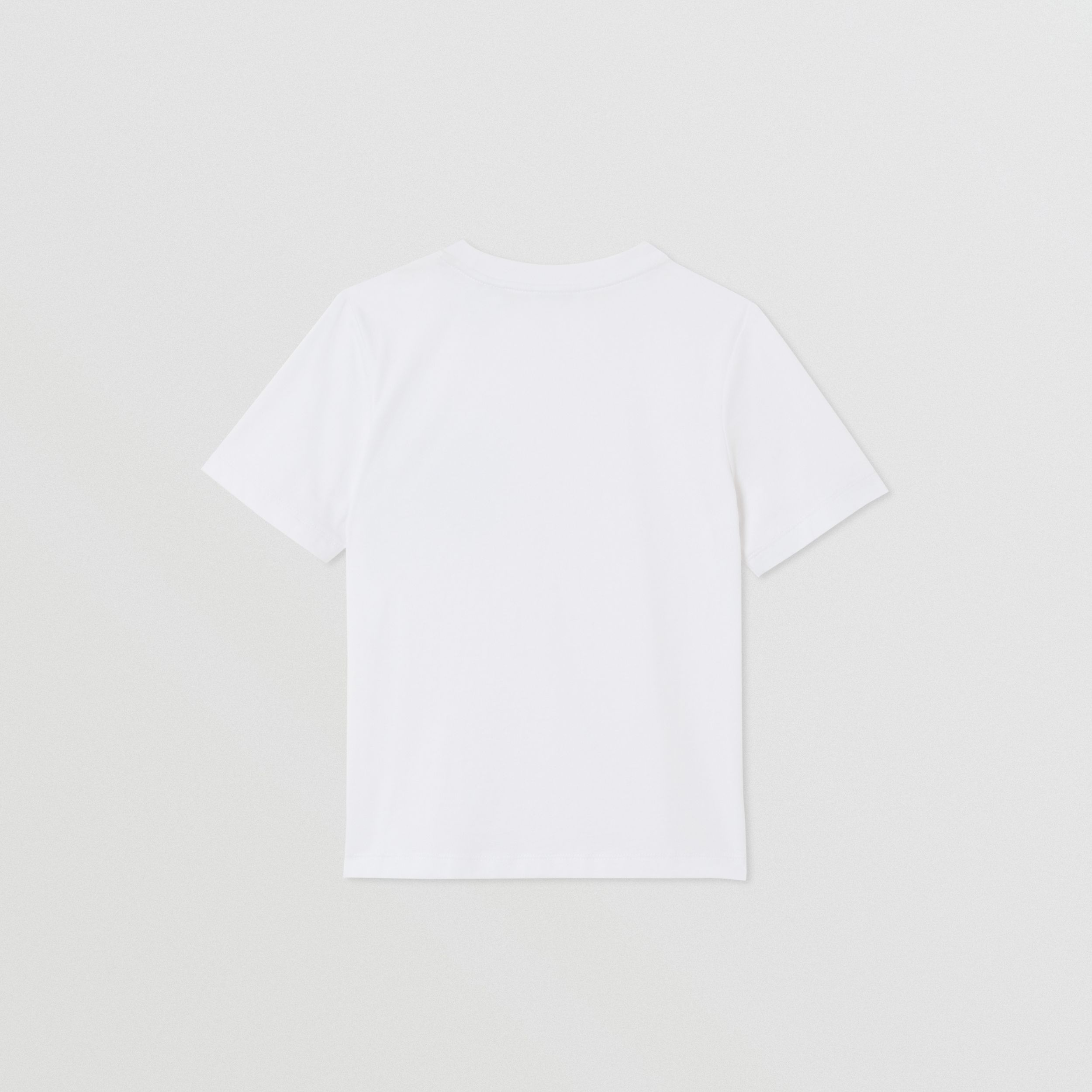 Monogram Motif Cotton T-shirt in White | Burberry Canada - 4