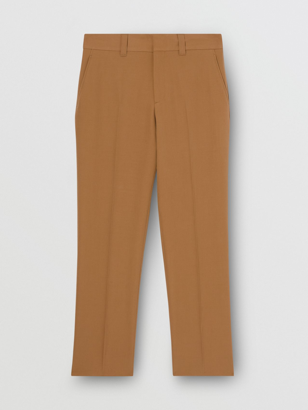 Grain De Poudre Wool Trousers in Fawn