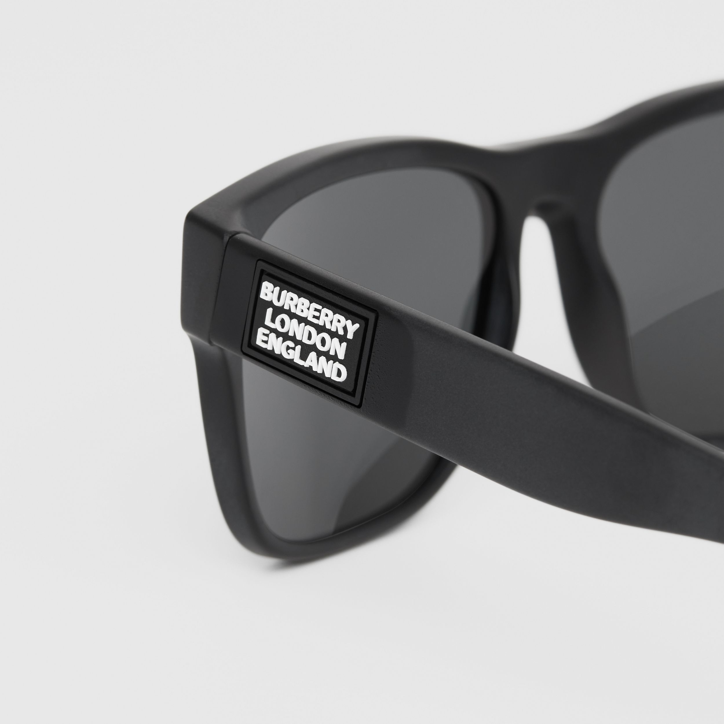 Logo Appliqué Square Frame Sunglasses in Black - Men | Burberry - 2