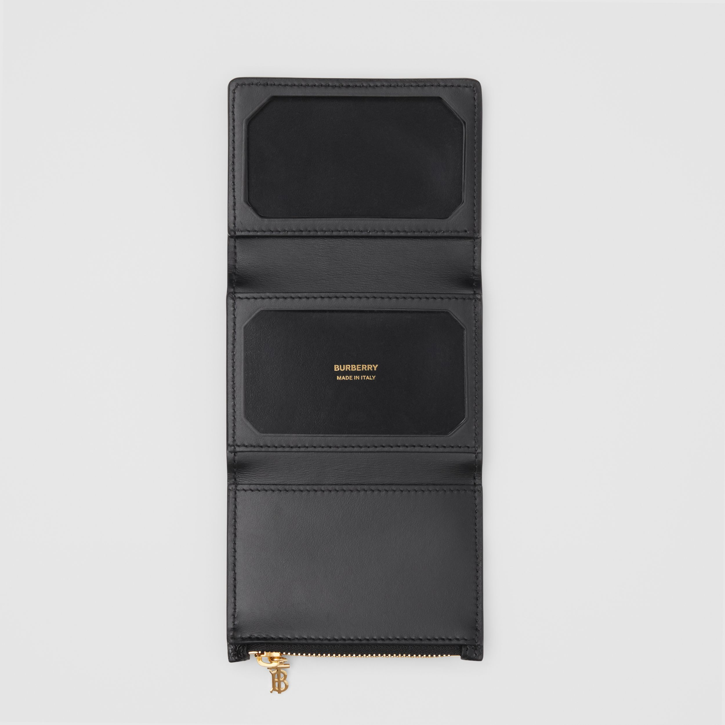 Grainy Leather ID Card Case in Black - Women | Burberry - 3