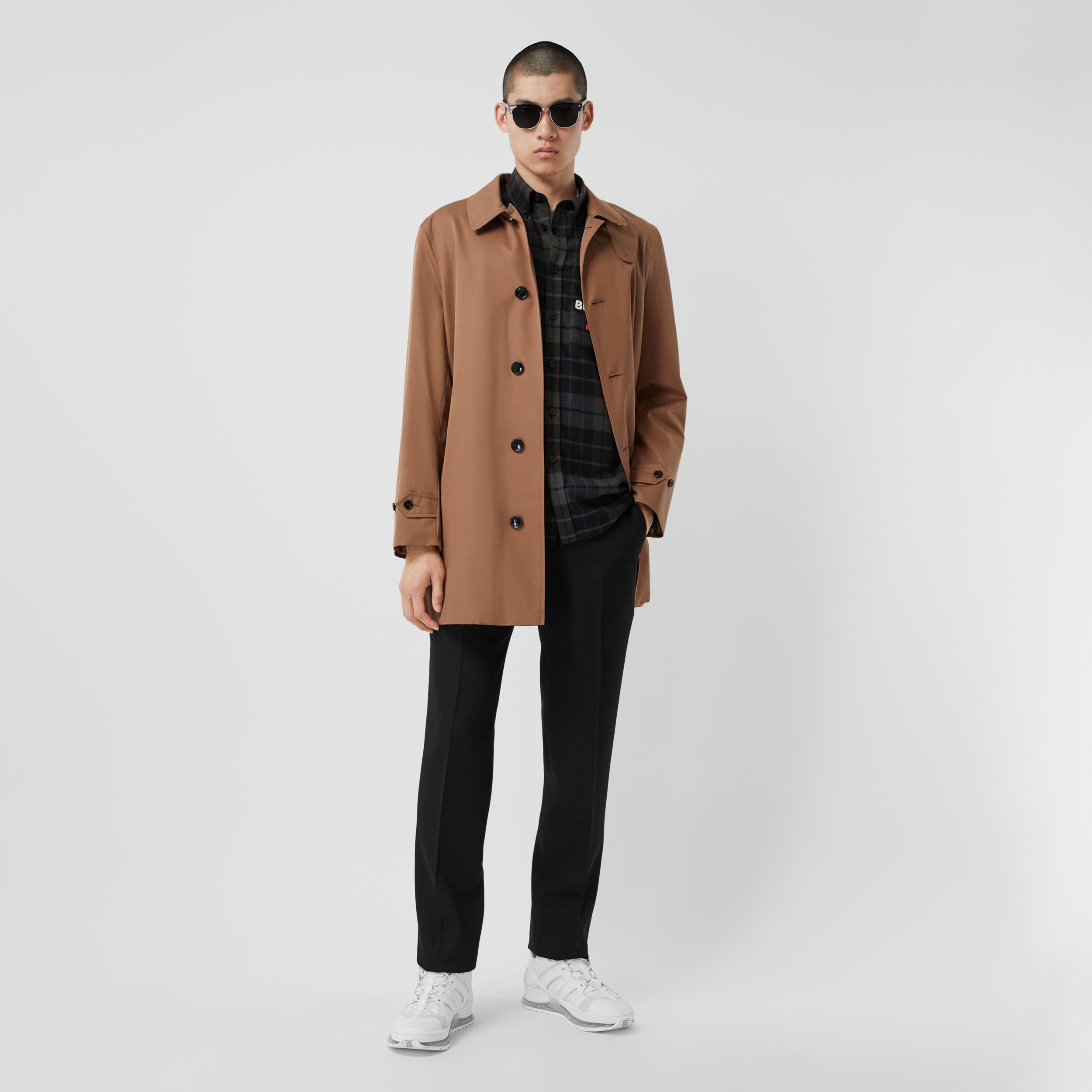 Organic Cotton Gabardine Car Coat in Dusty Caramel - Men | Burberry - 1
