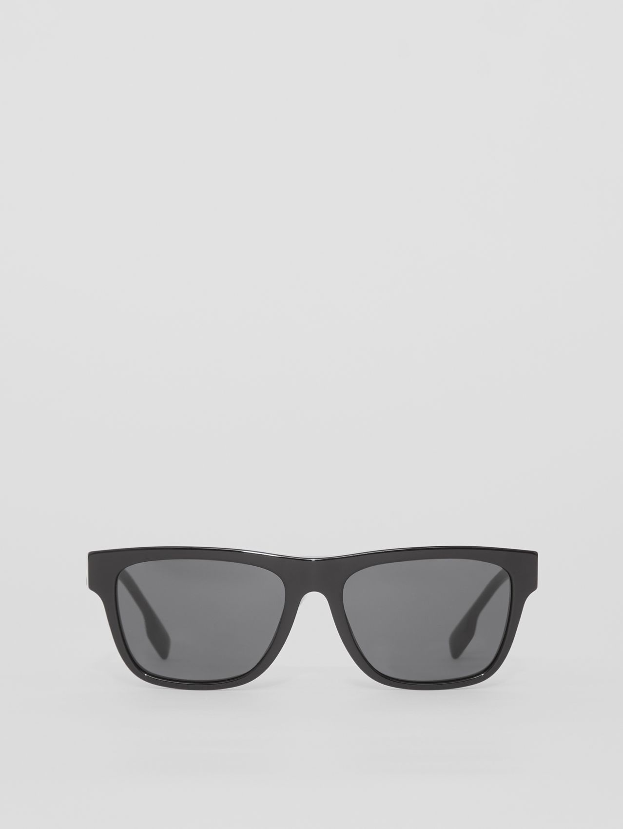 Logo Detail Square Frame Sunglasses in Black