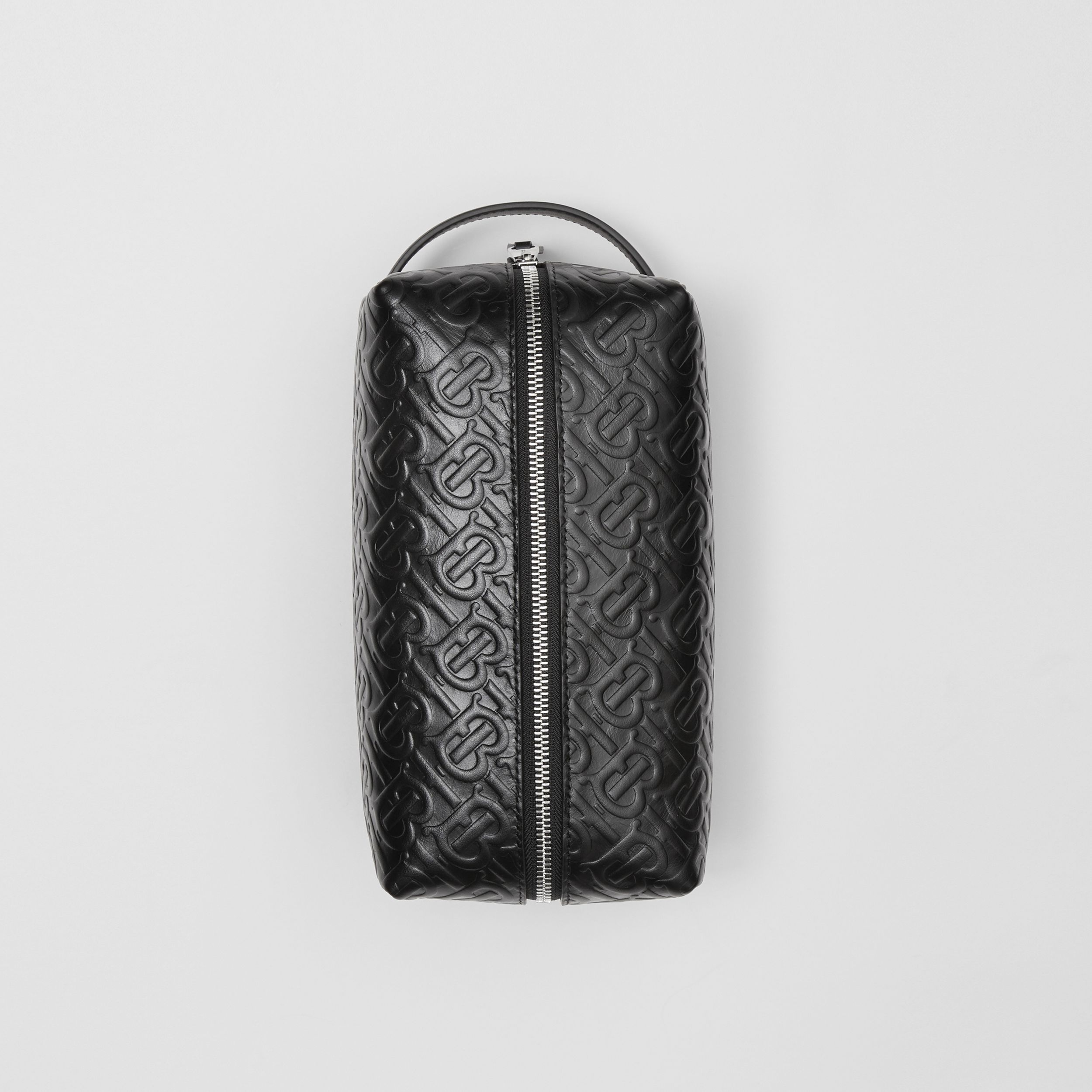 Monogram Leather Travel Pouch in Black - Men | Burberry - 4