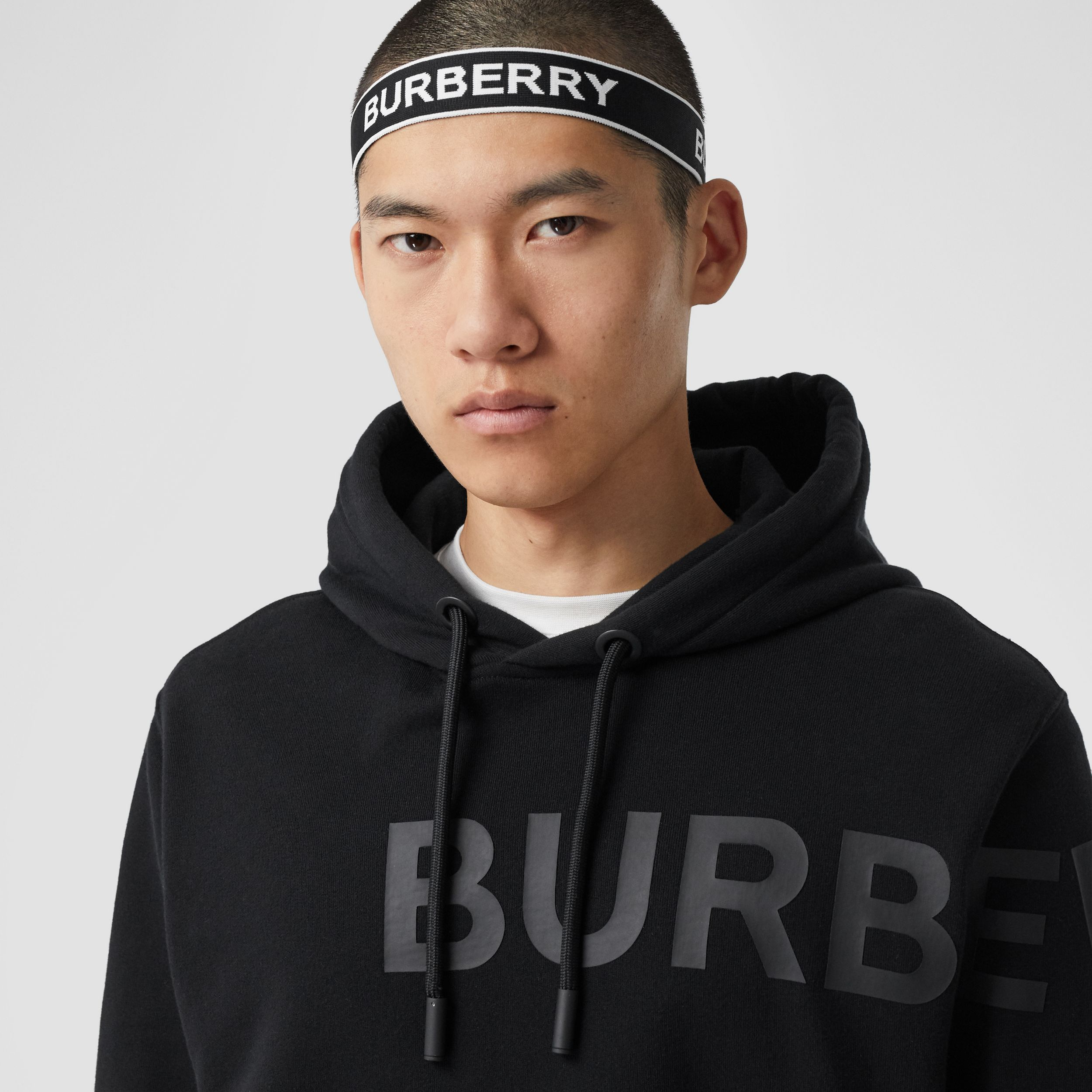 Logo Jacquard Headband in Black | Burberry - 4