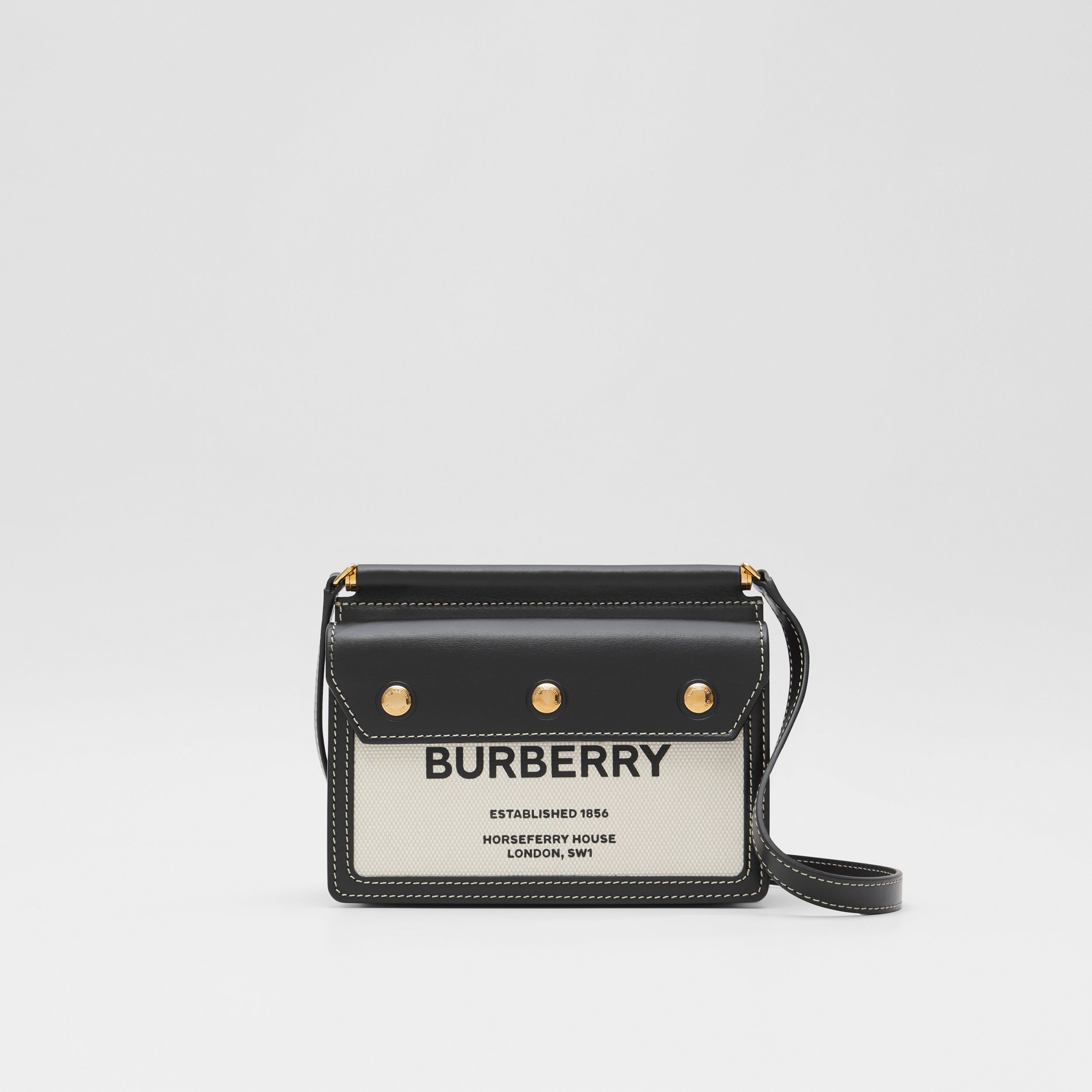 Mini Horseferry Print Title Bag with Pocket Detail - Women | Burberry Australia - 1