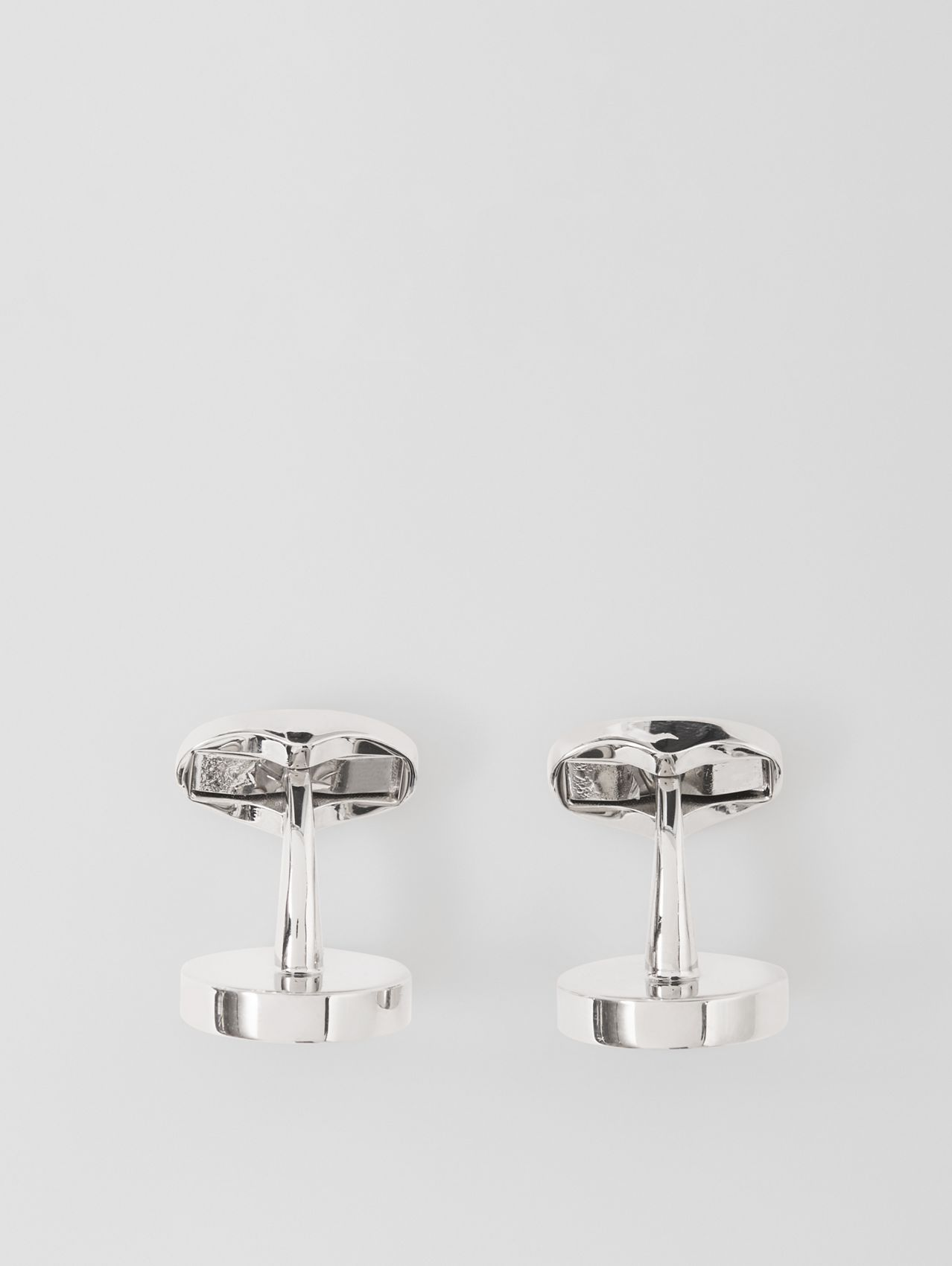 Logo Detail Palladium-plated Cufflinks