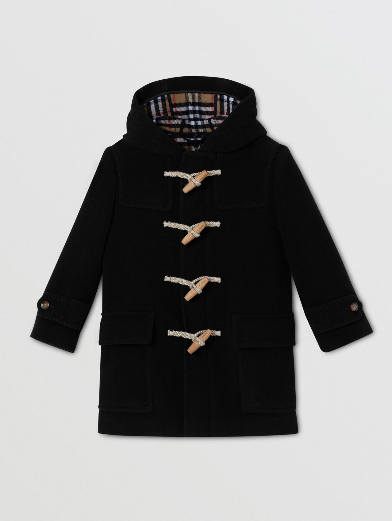Double-faced Wool Duffle Coat in Black