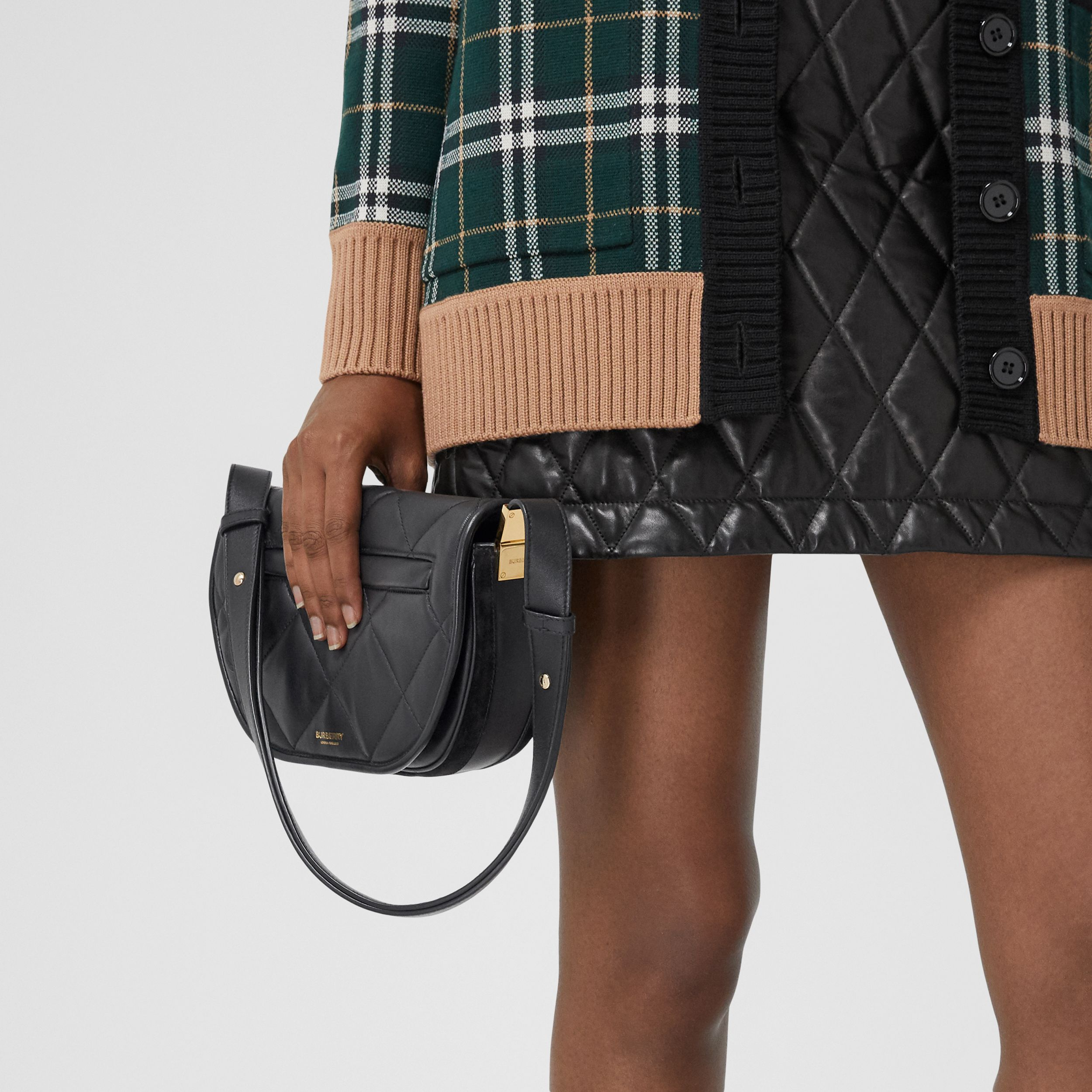 Small Quilted Lambskin Olympia Bag in Black - Women | Burberry - 3