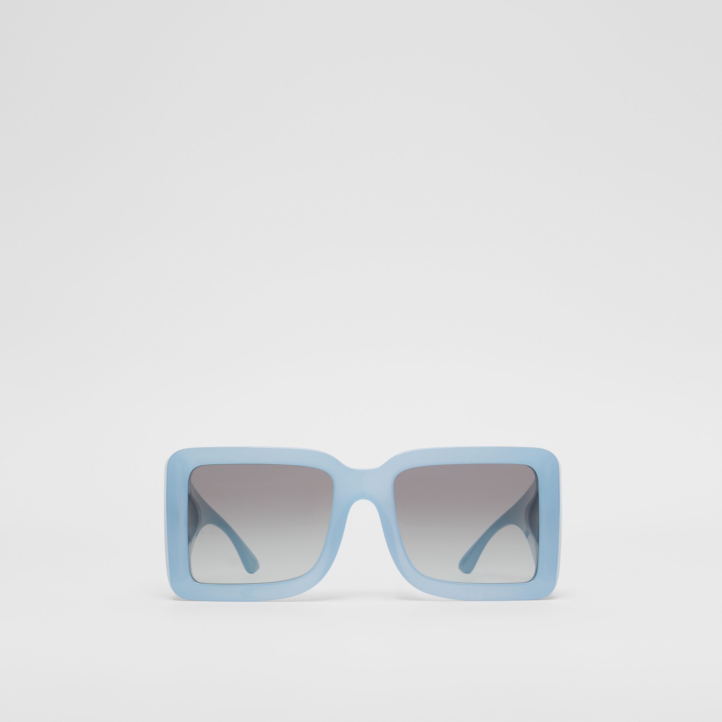 B Motif Square Frame Sunglasses in Baby Blue | Burberry - 1