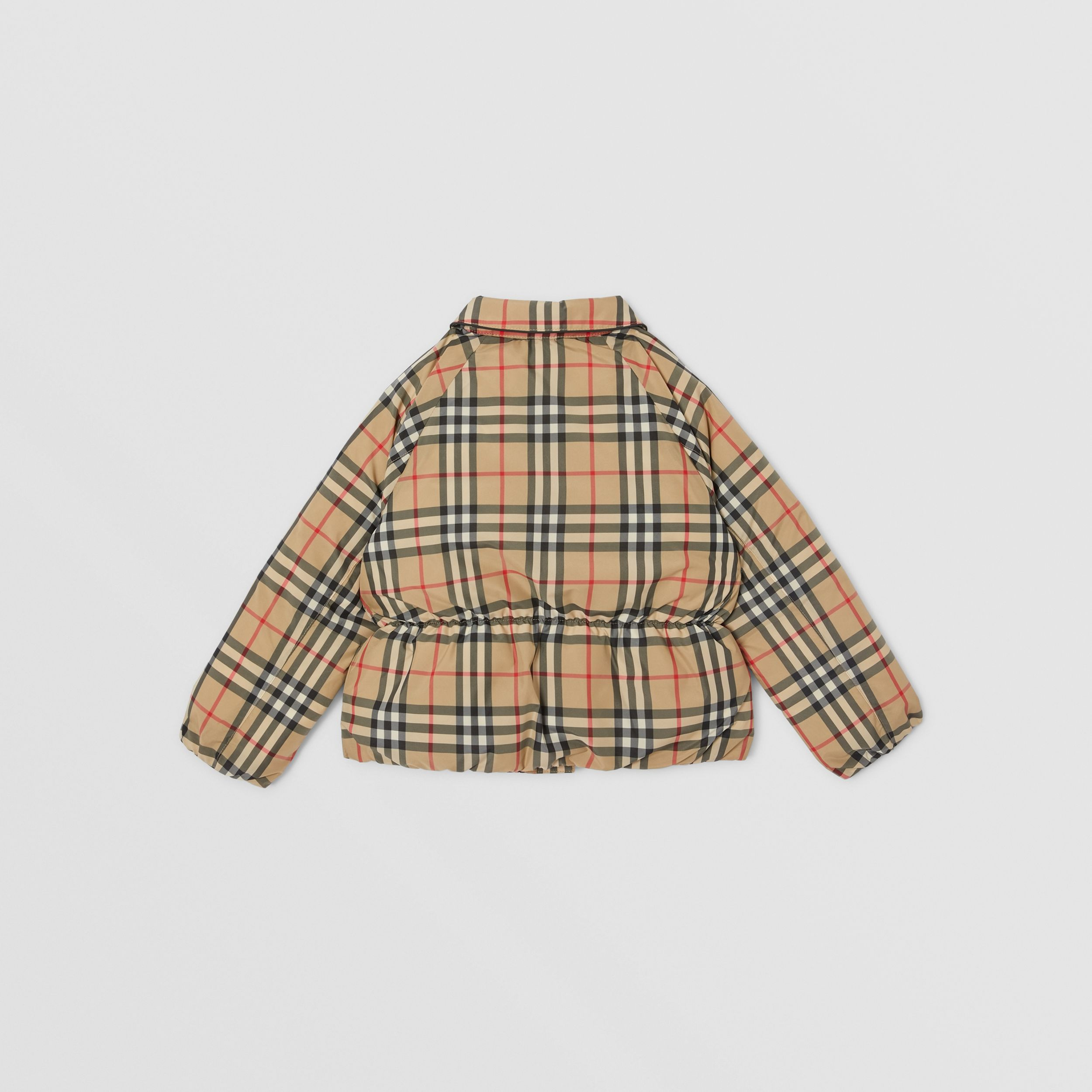 Vintage Check Down-filled Recycled Polyester Jacket in Archive Beige | Burberry - 4