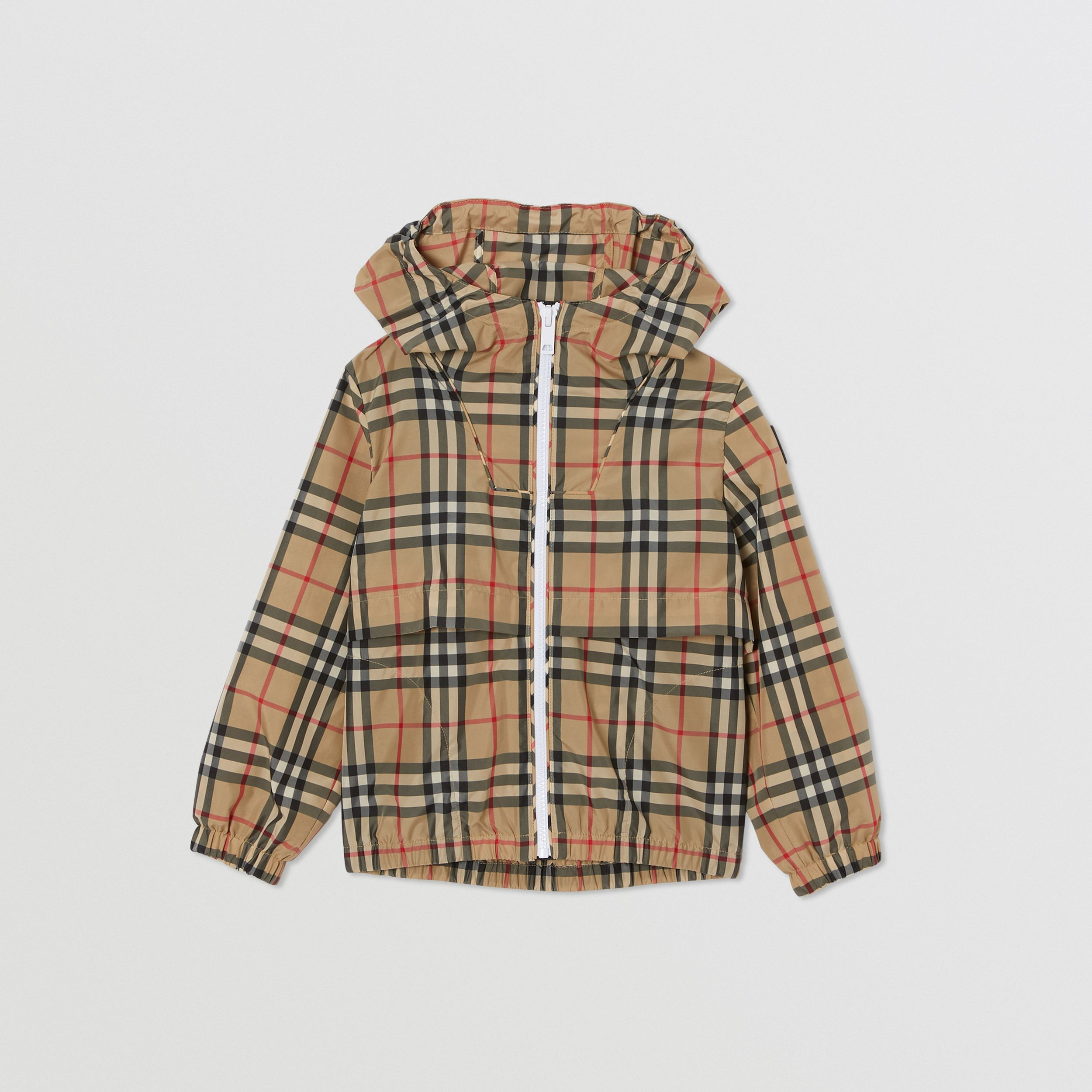 Vintage Check Lightweight Hooded Jacket in Archive Beige | Burberry Hong Kong S.A.R. - 1