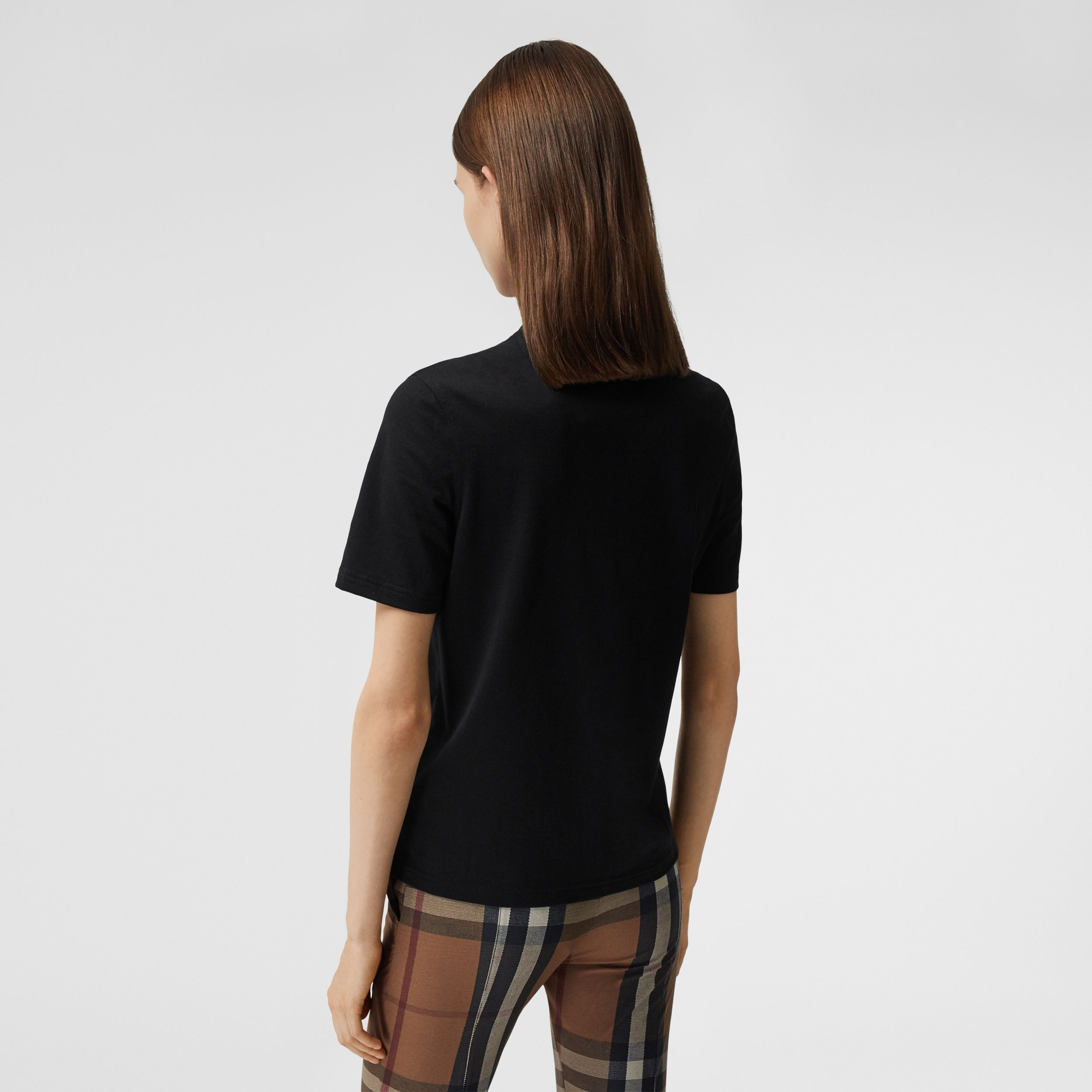 Logo Graphic Cotton T-shirt in Black - Women | Burberry Canada - 3