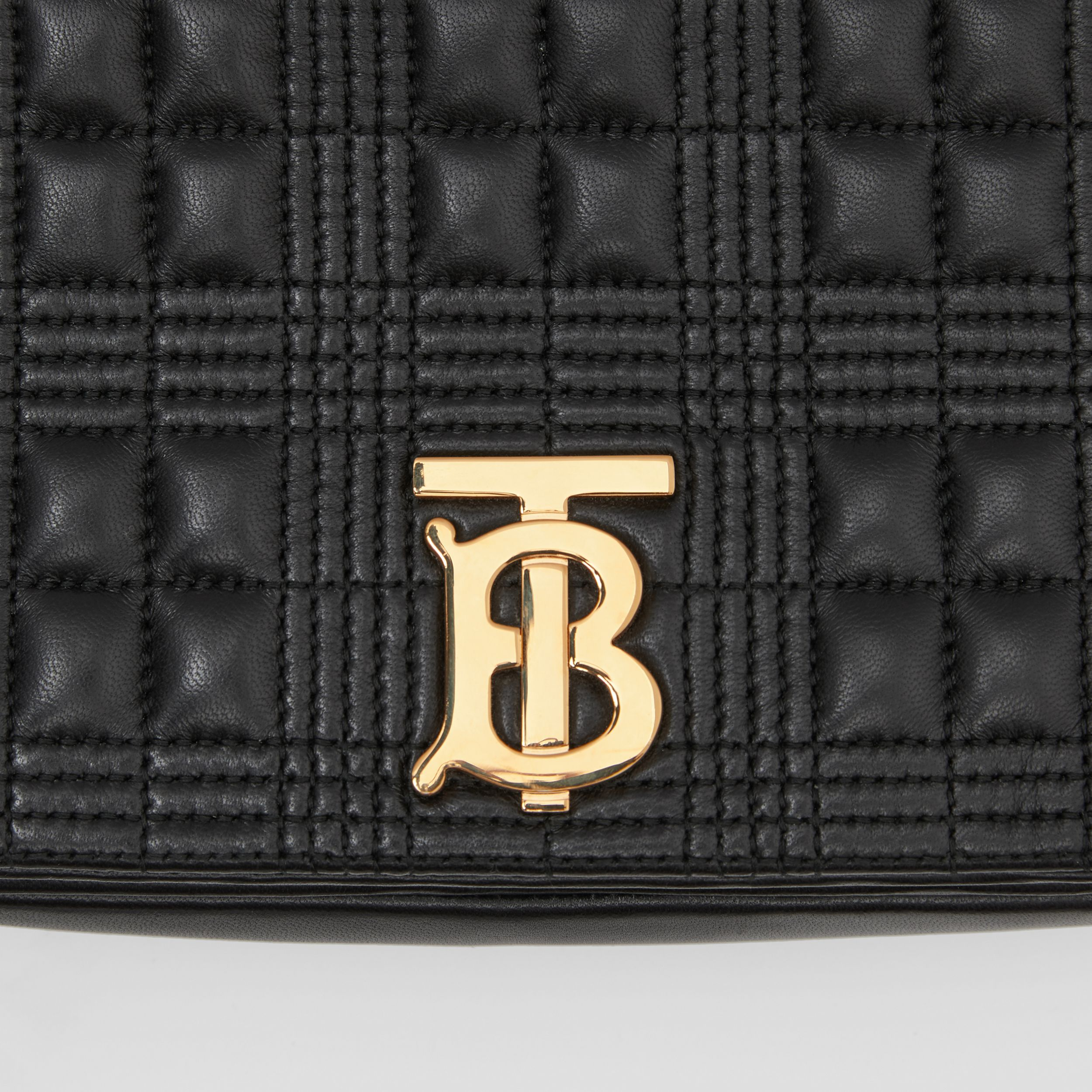 Small Quilted Lambskin Lola Bag in Black/light Gold - Women | Burberry - 2