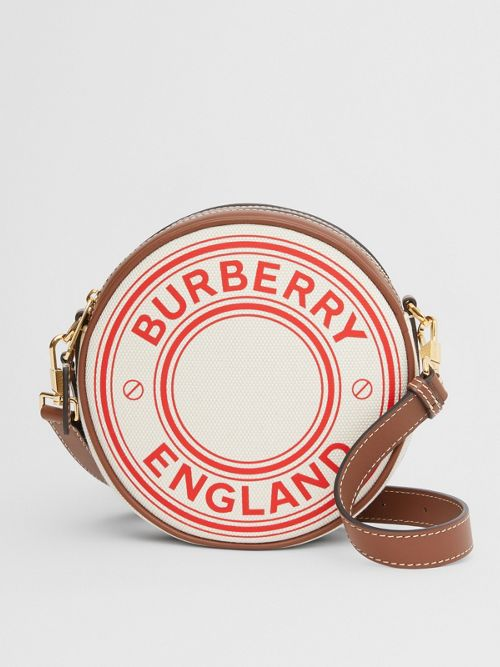 Burberry Canvases Logo Graphic Canvas and Leather Louise Bag