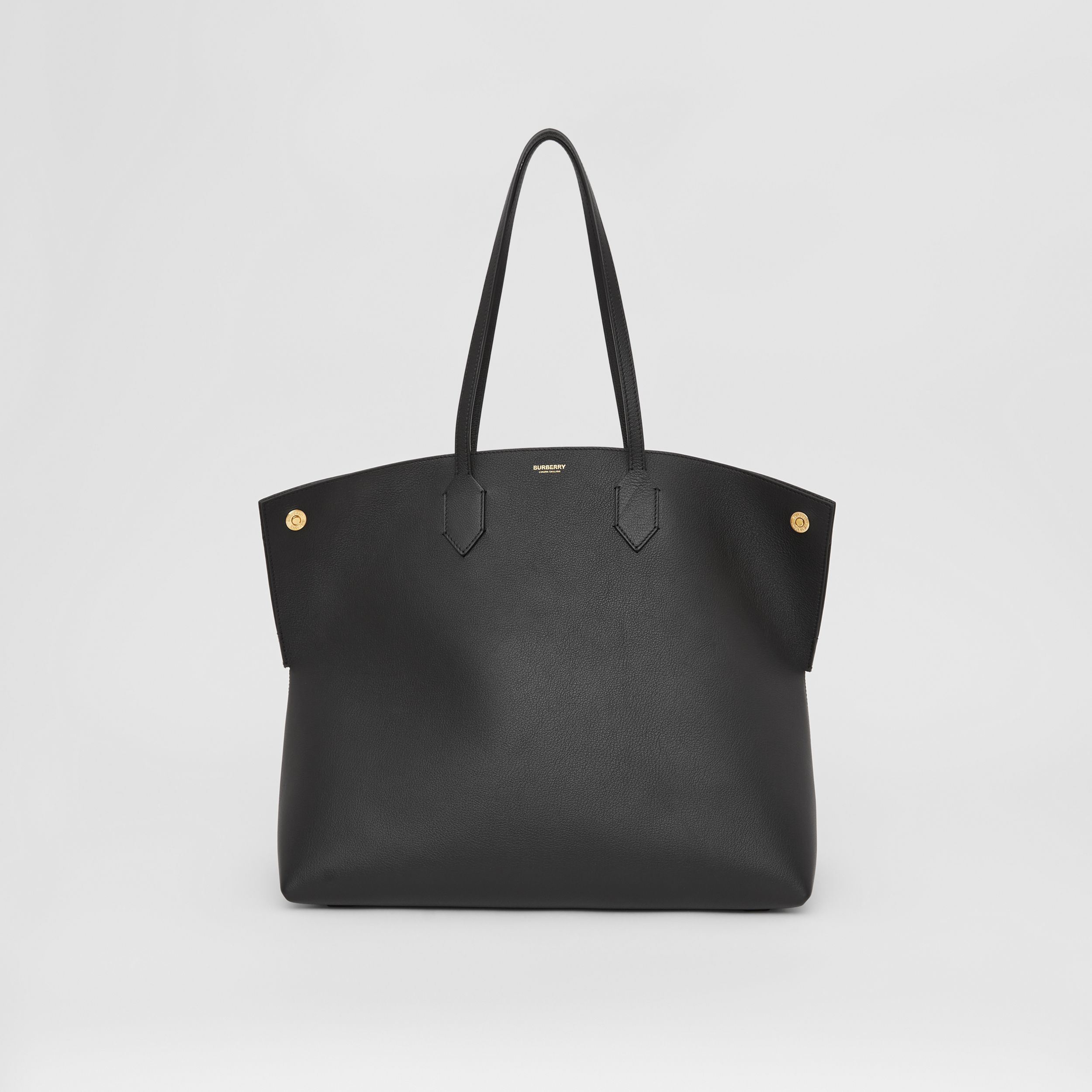Large Grainy Leather Society Tote in Black - Women | Burberry Hong Kong S.A.R. - 1