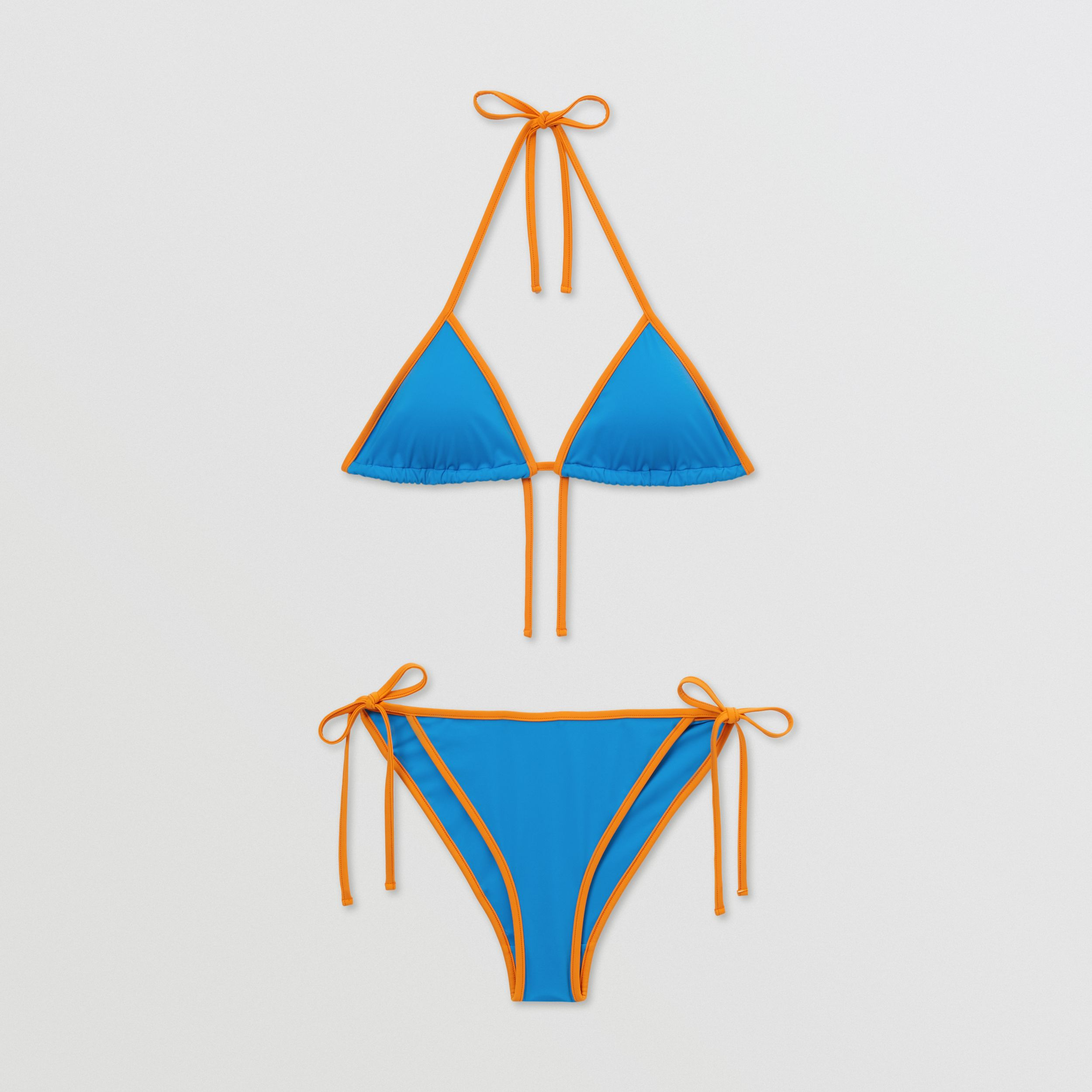 Monogram Motif Triangle Bikini in Bright Cobalt - Women | Burberry - 3