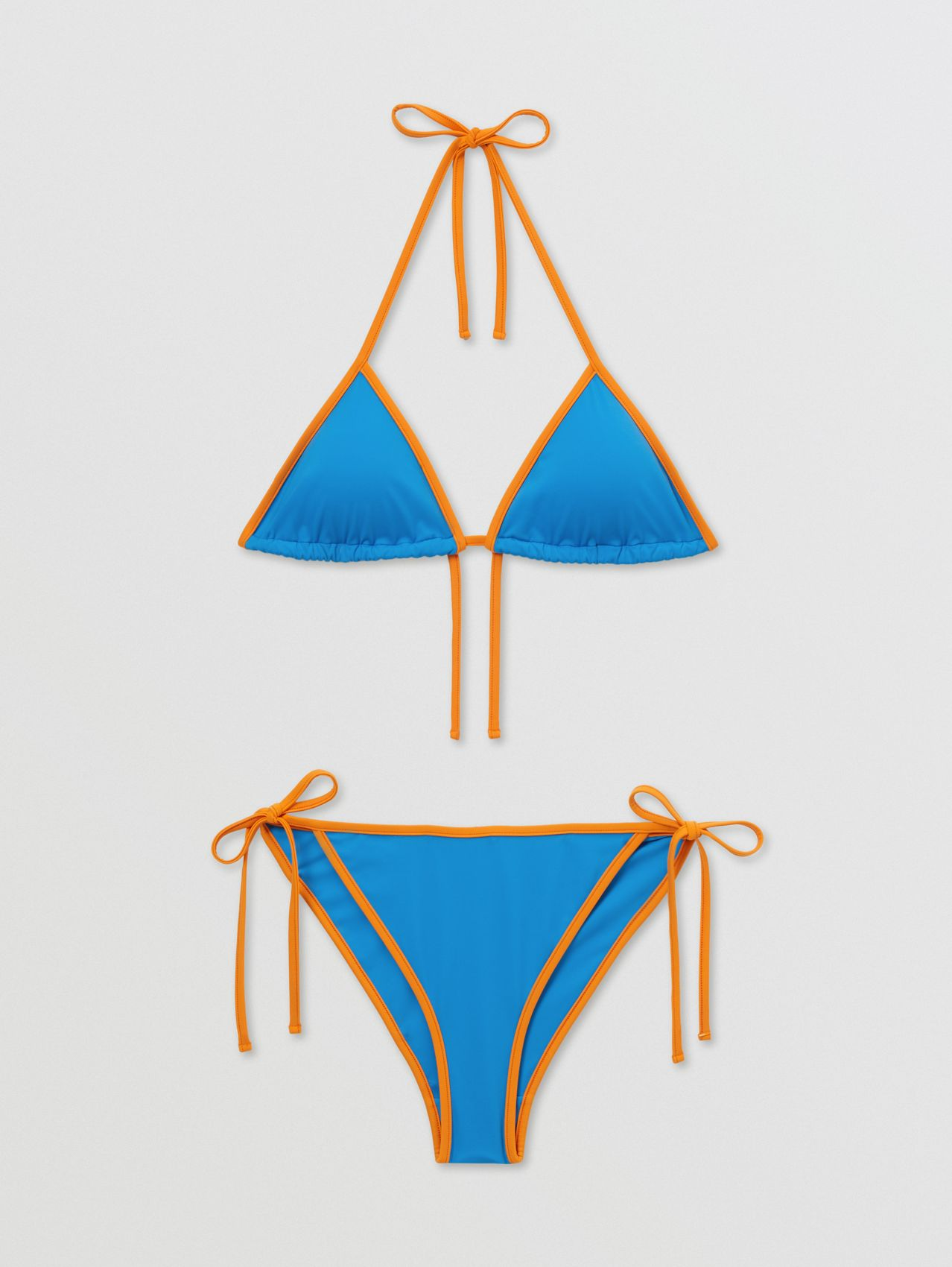 Monogram Motif Triangle Bikini in Bright Cobalt