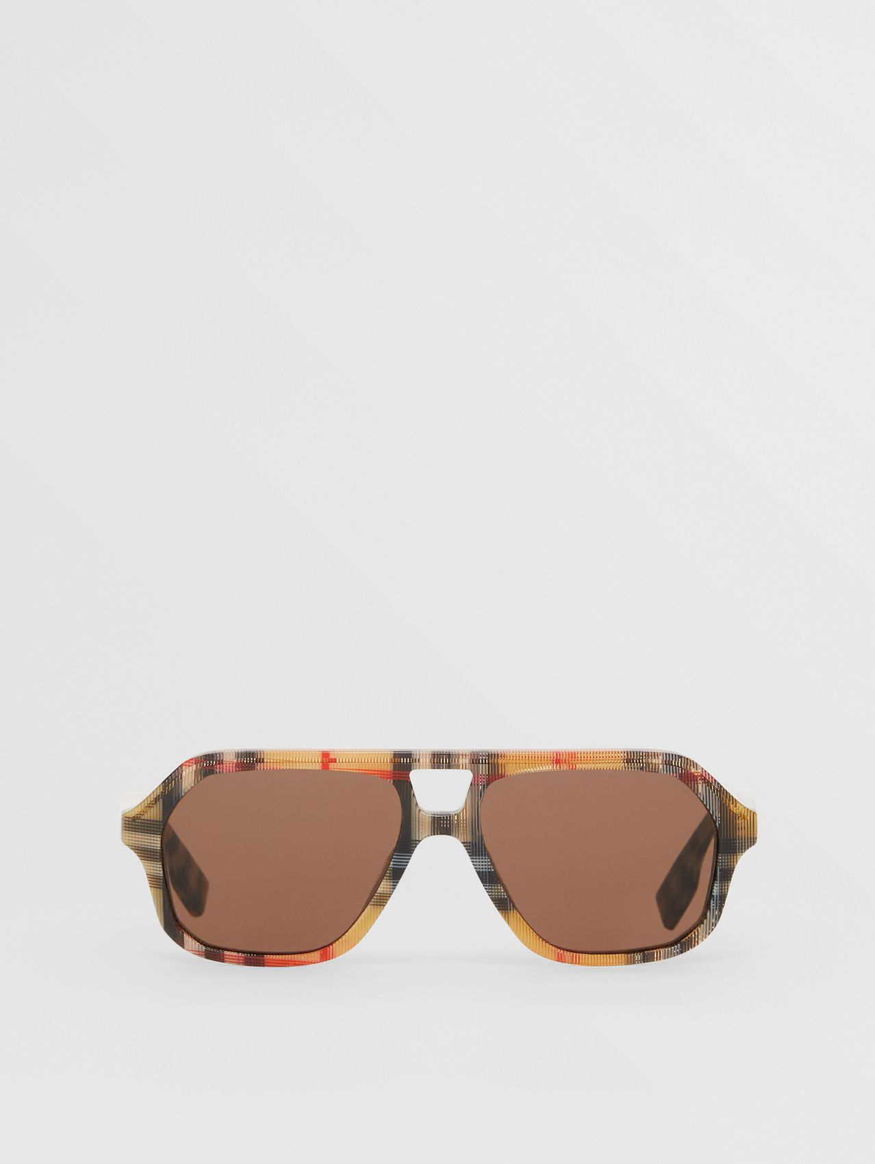 Vintage Check Navigator Sunglasses in Antique Yellow