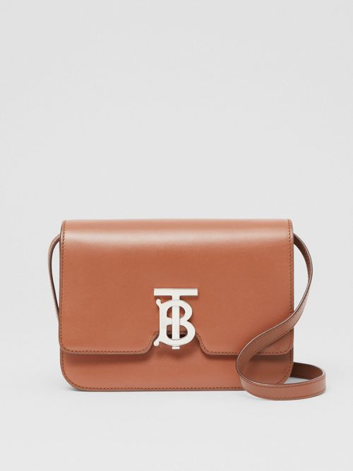 Burberry Leathers Small Leather TB Bag