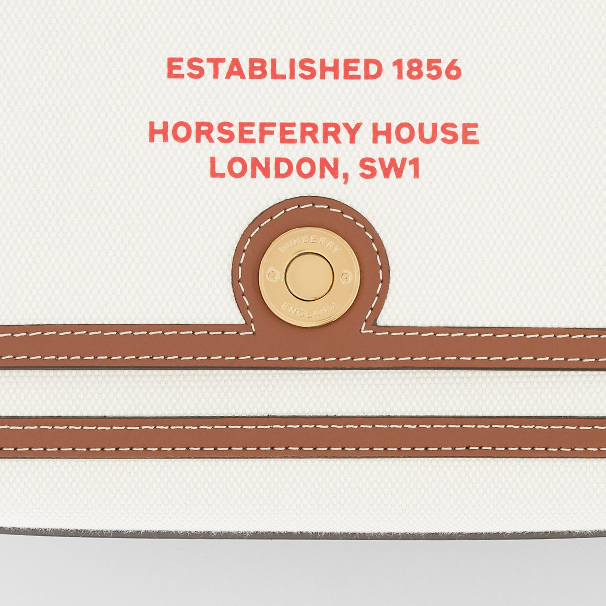 Horseferry Print Canvas Note Crossbody Bag in Natural/tan - Women | Burberry - 2
