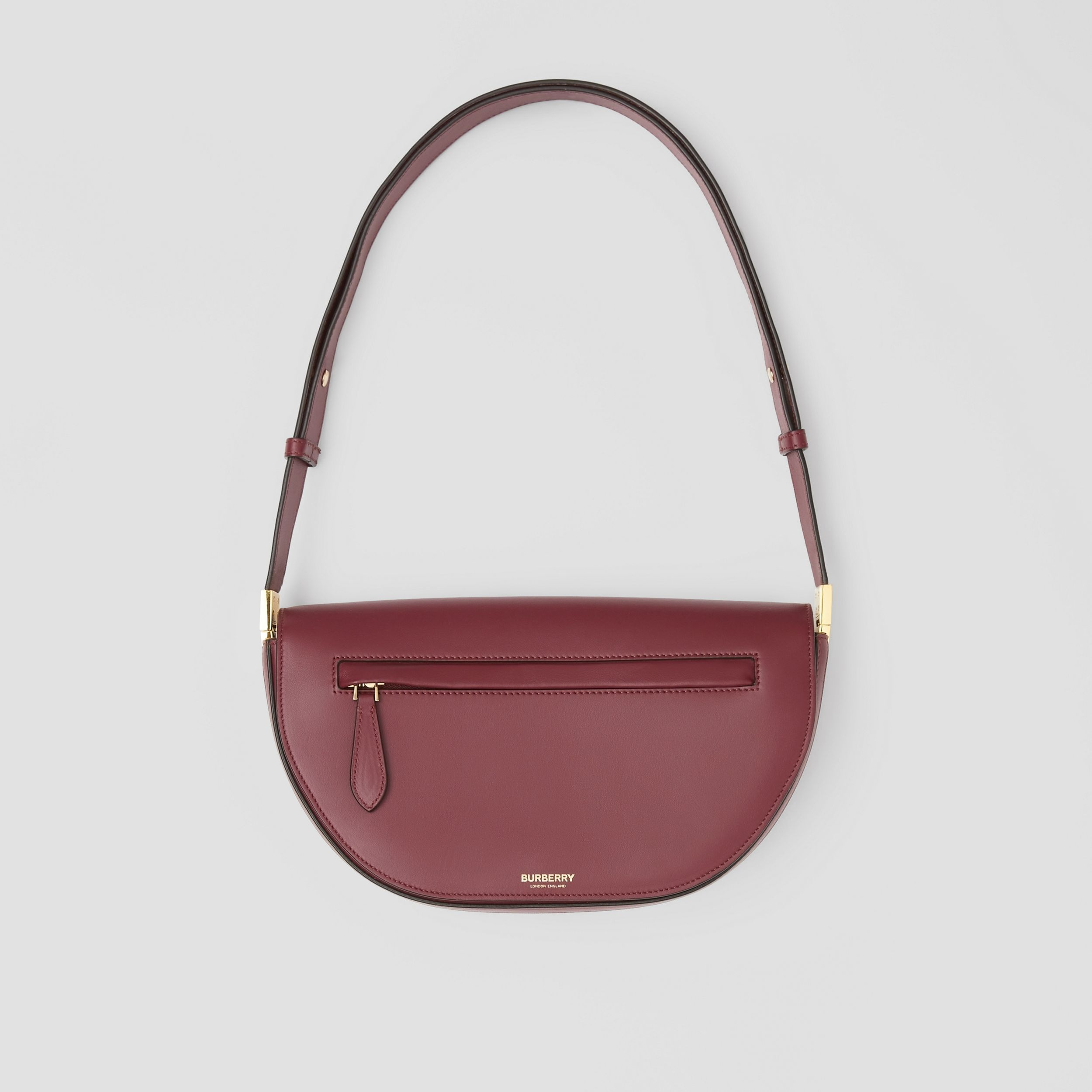 Small Leather Olympia Bag in Burgundy | Burberry United Kingdom - 1