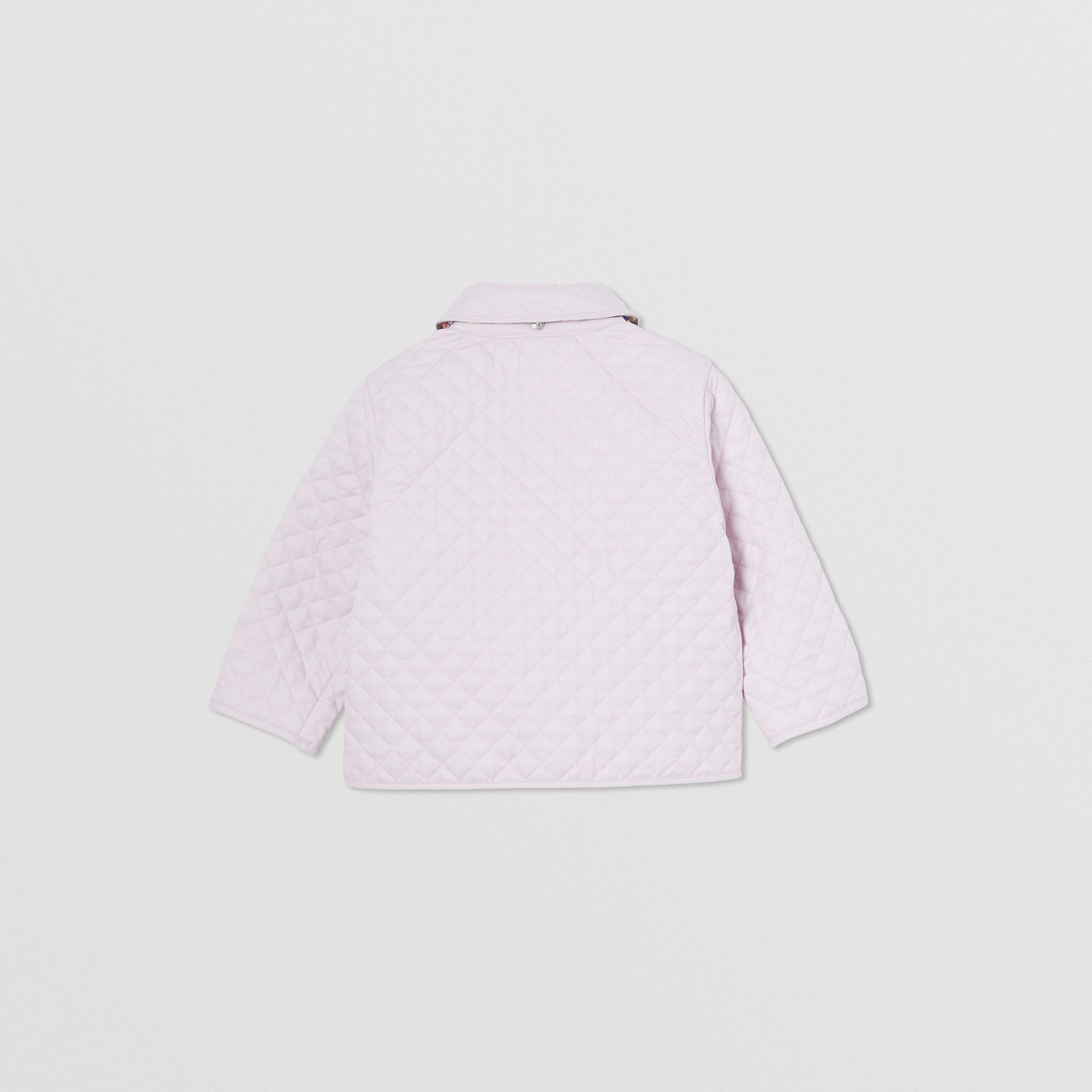 Detachable Hood Monogram Quilted Jacket in Pastel Pink - Children | Burberry - 4