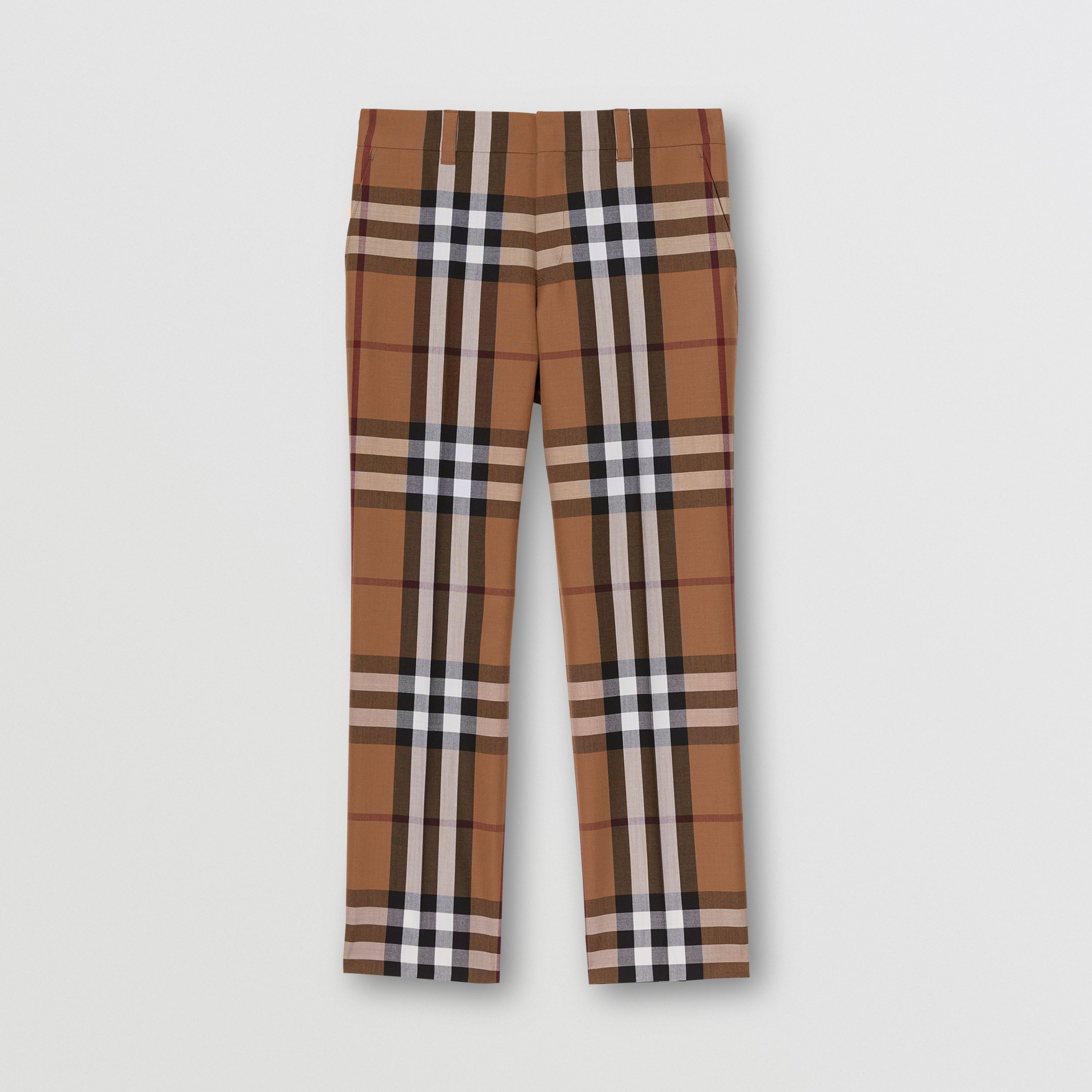 House Check Wool Tailored Trousers in Birch Brown | Burberry - 4