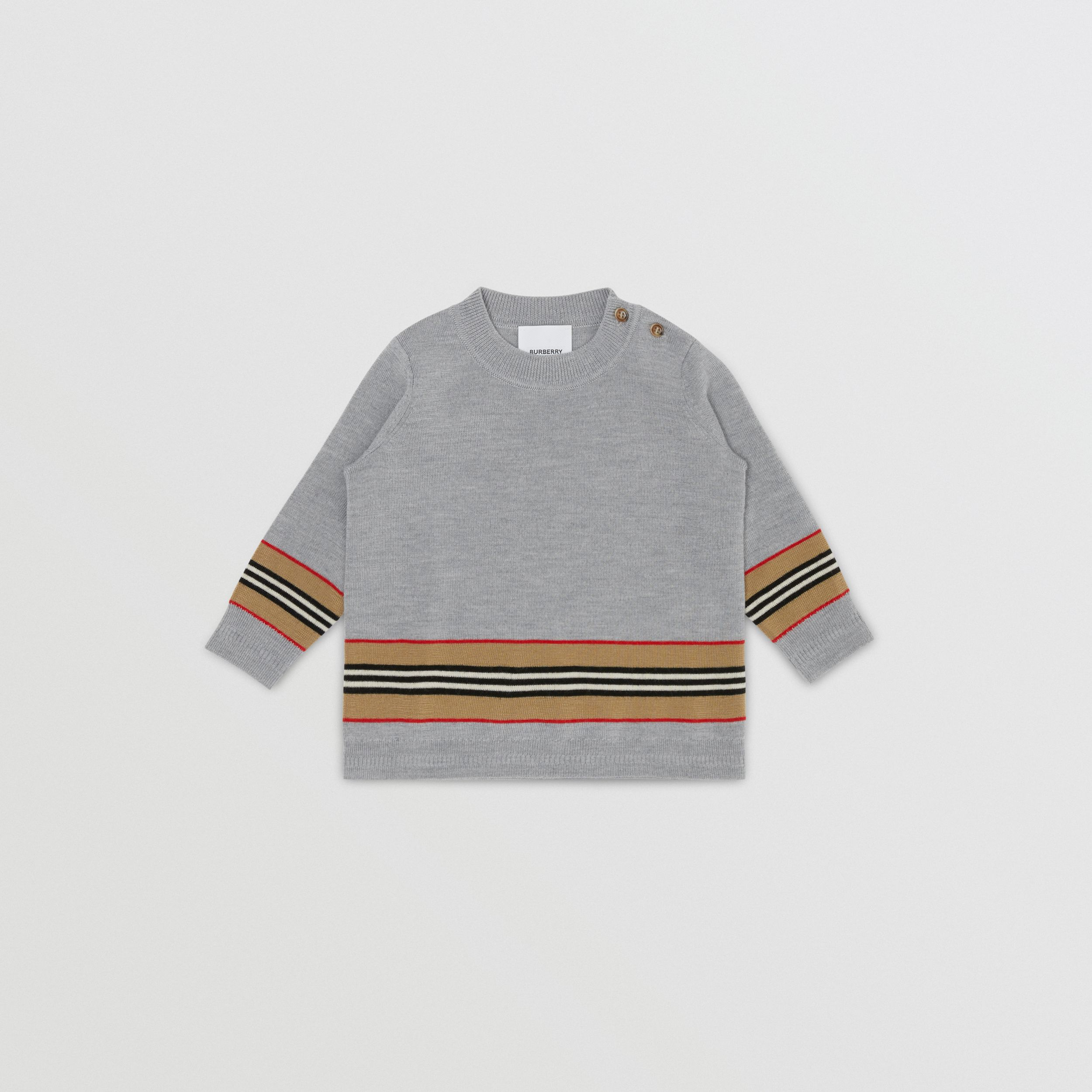 Icon Stripe Panel Merino Wool Sweater - Children | Burberry United Kingdom - 1