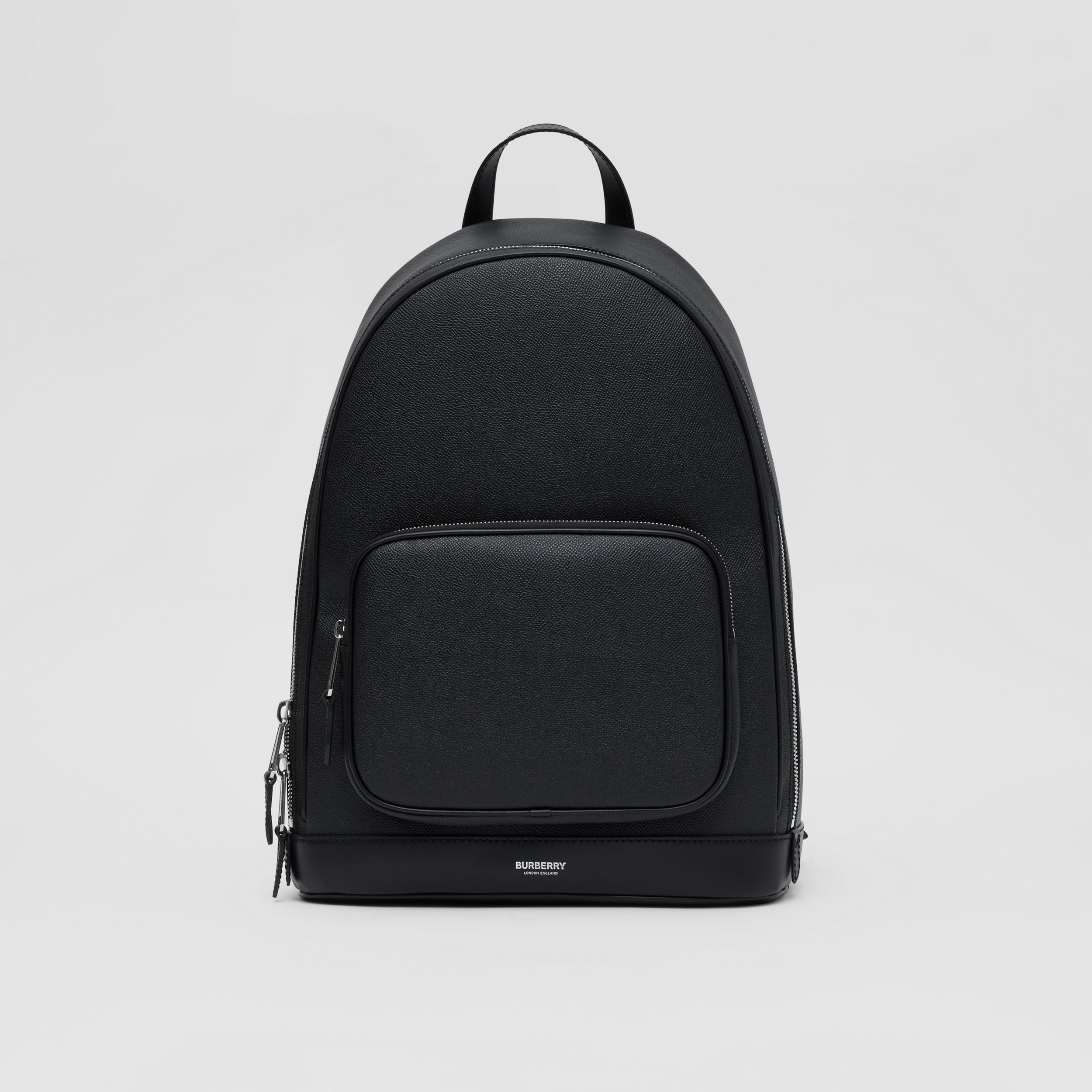 Grainy Leather Backpack in Black - Men | Burberry Singapore - 1