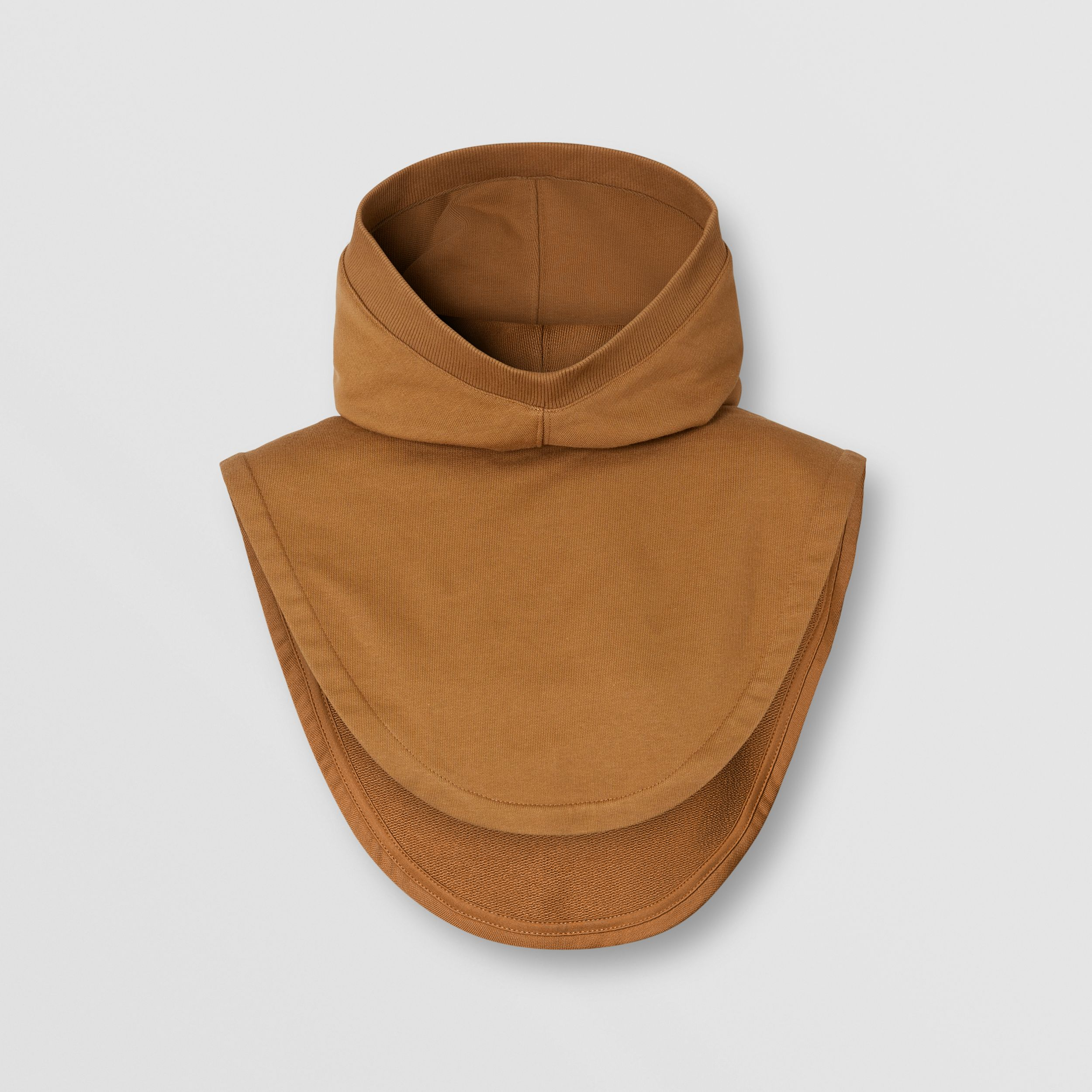 Logo Appliqué Cotton Hood in Fawn | Burberry - 1