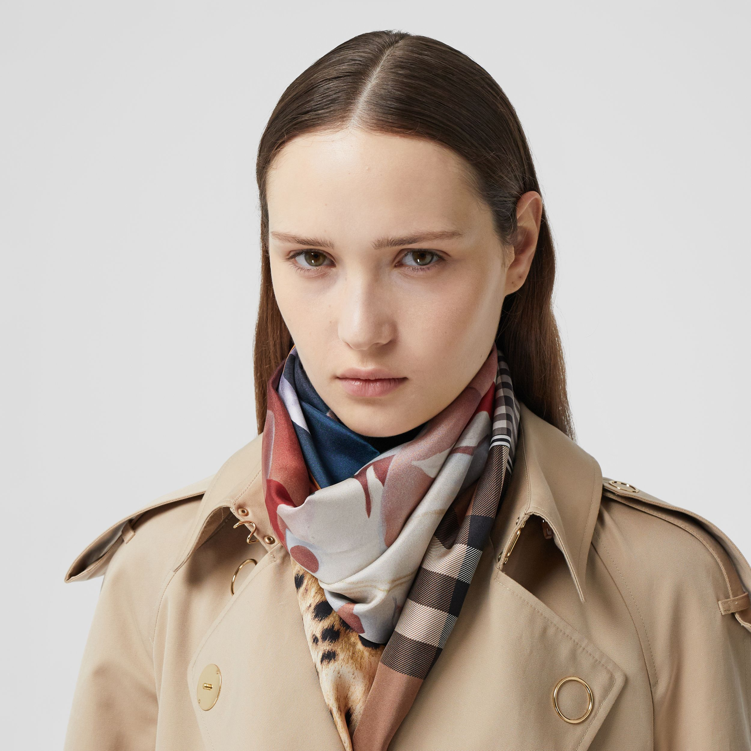Montage Print Silk Scarf in Multicoloured | Burberry - 3