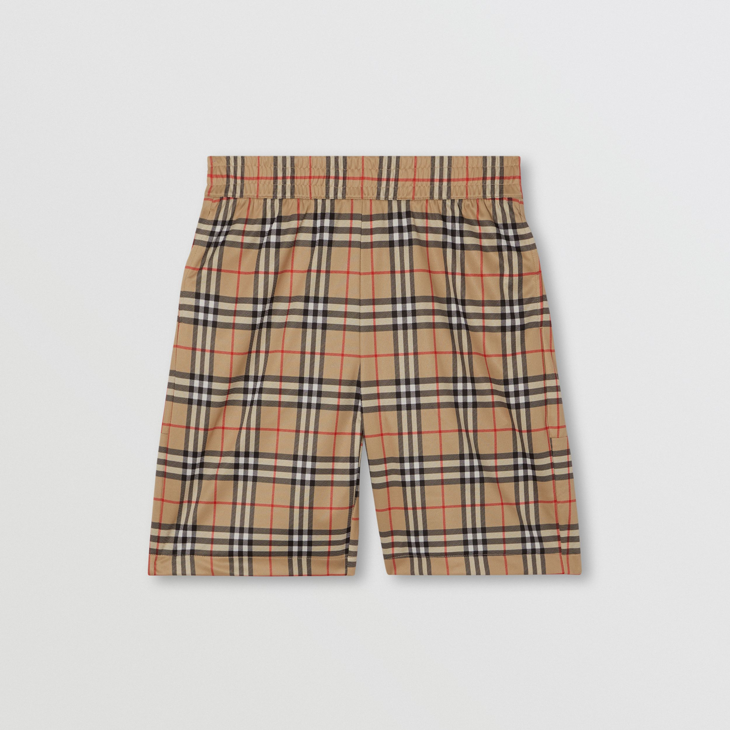 Vintage Check Technical Twill Shorts in Archive Beige - Men | Burberry - 4