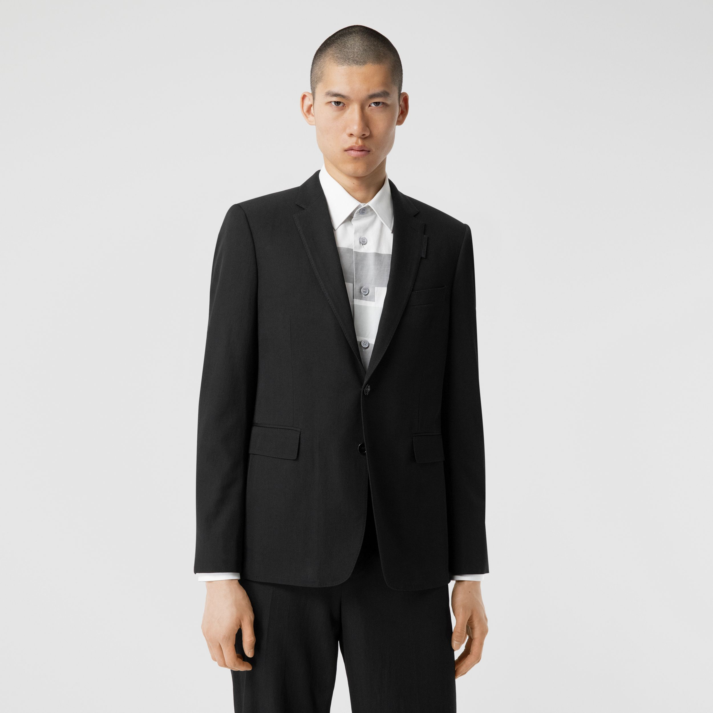 Slim Fit Technical Wool Twill Tailored Jacket - Men | Burberry Canada - 1