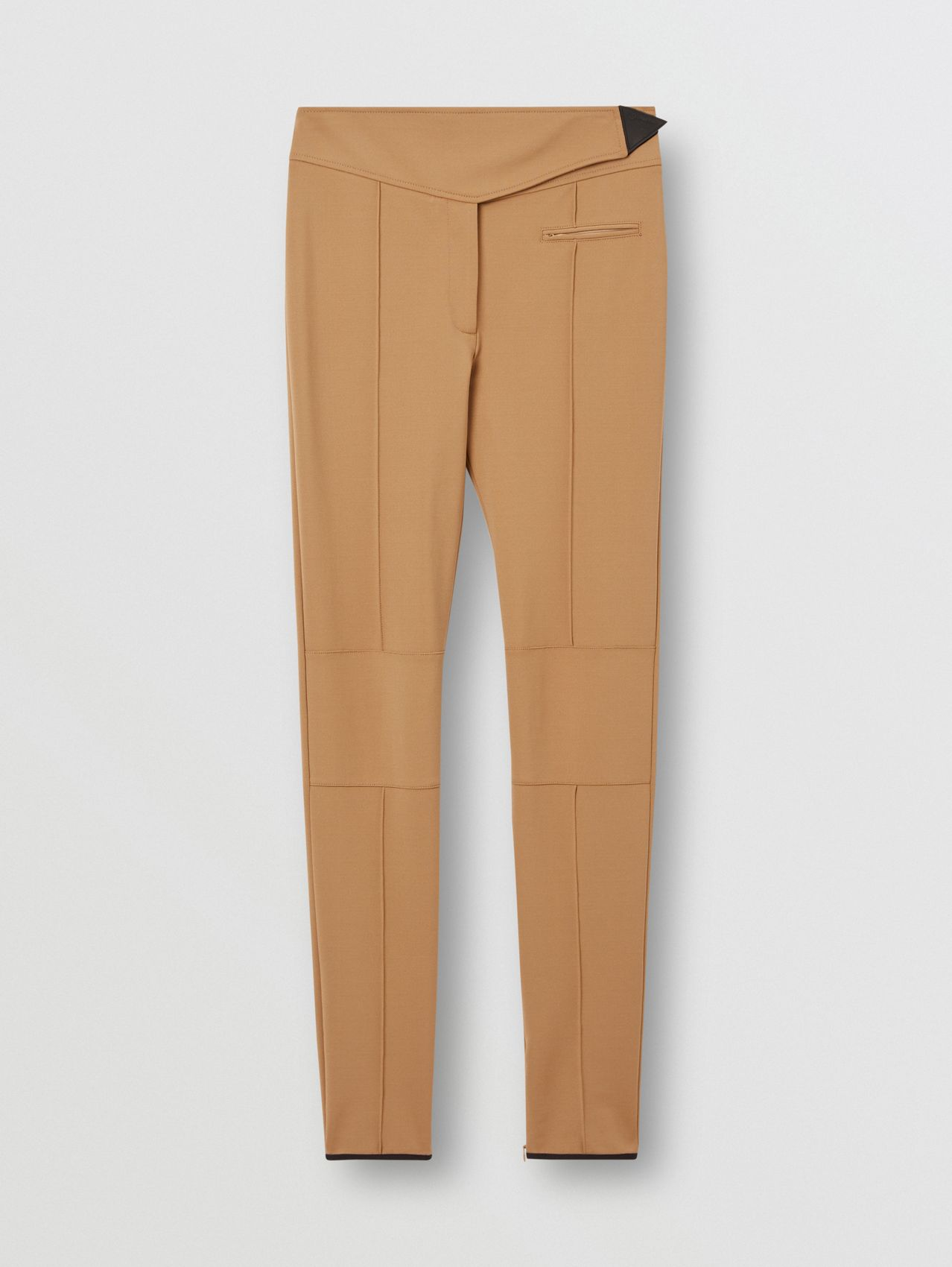 Stretch Crepe Jersey Jodhpurs in Dark Tan