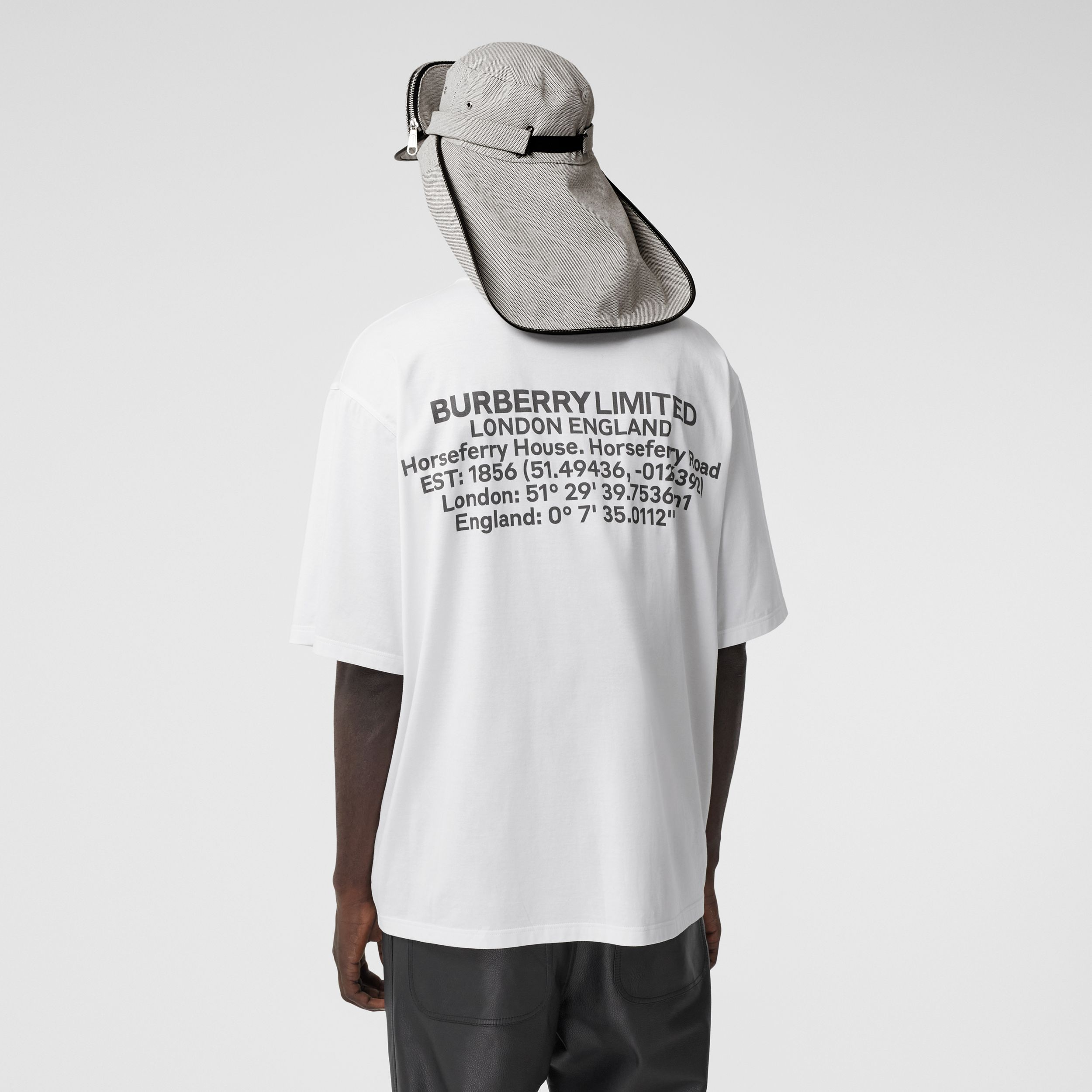 Pocket Bag Print Cotton Jersey T-shirt in White - Men | Burberry Hong Kong S.A.R. - 3