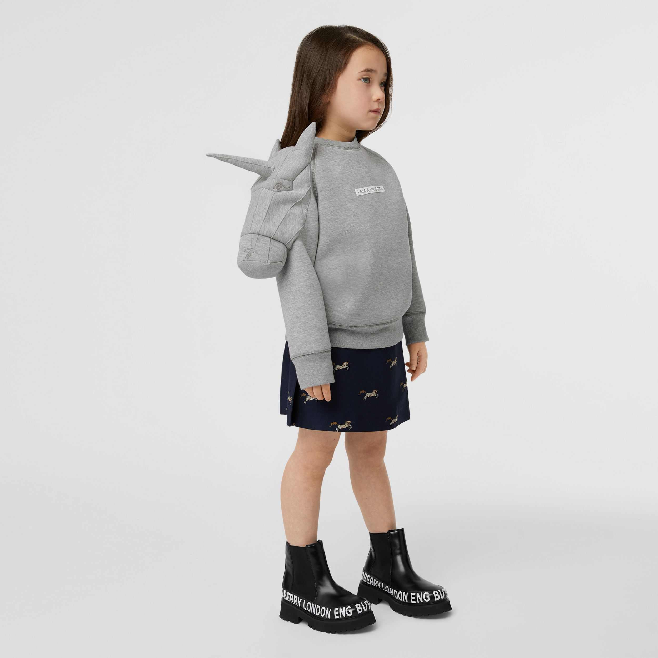 3D Unicorn Sweatshirt – Online Exclusive in Grey Melange | Burberry - 3