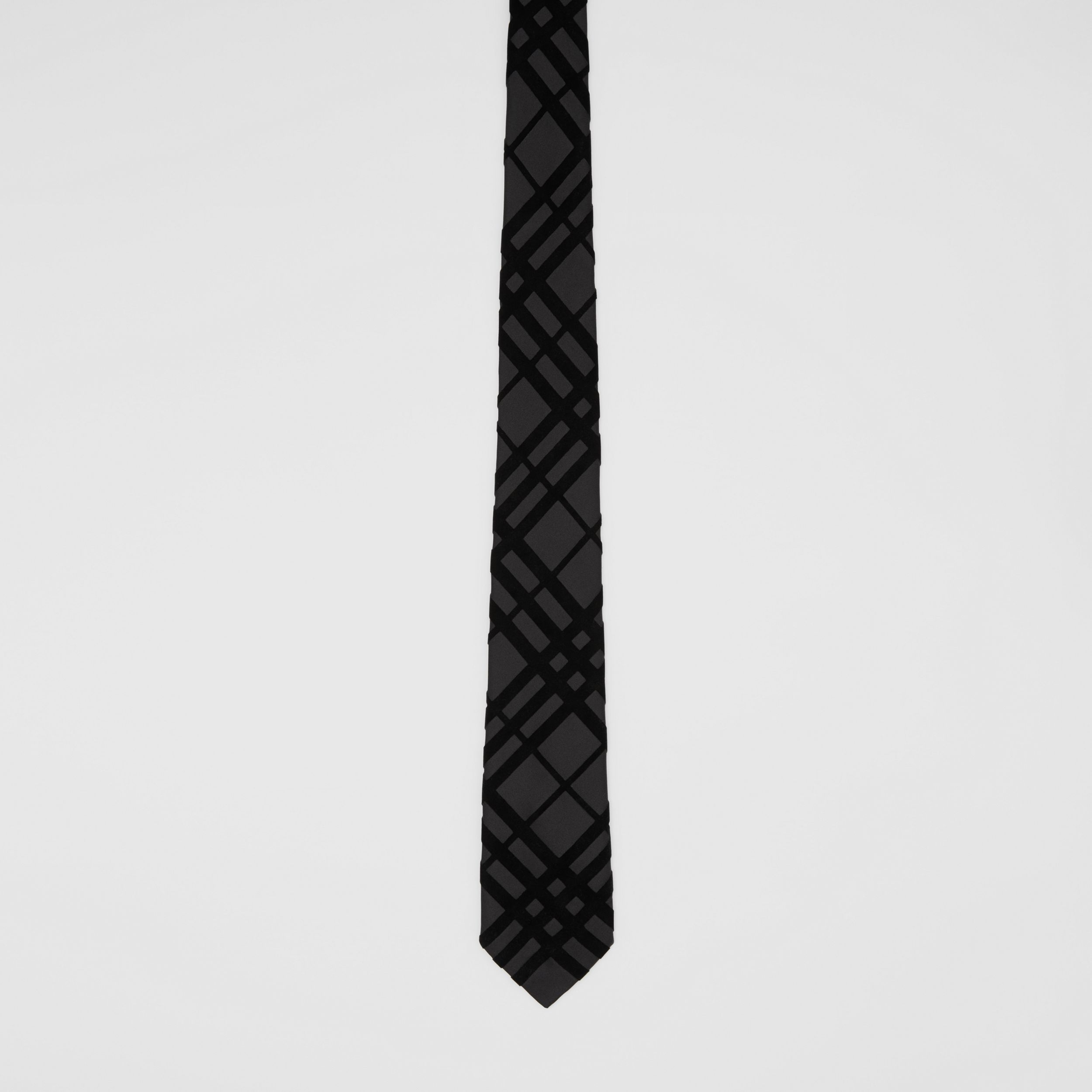 Classic Cut Check Flock Silk Tie - Men | Burberry - 4
