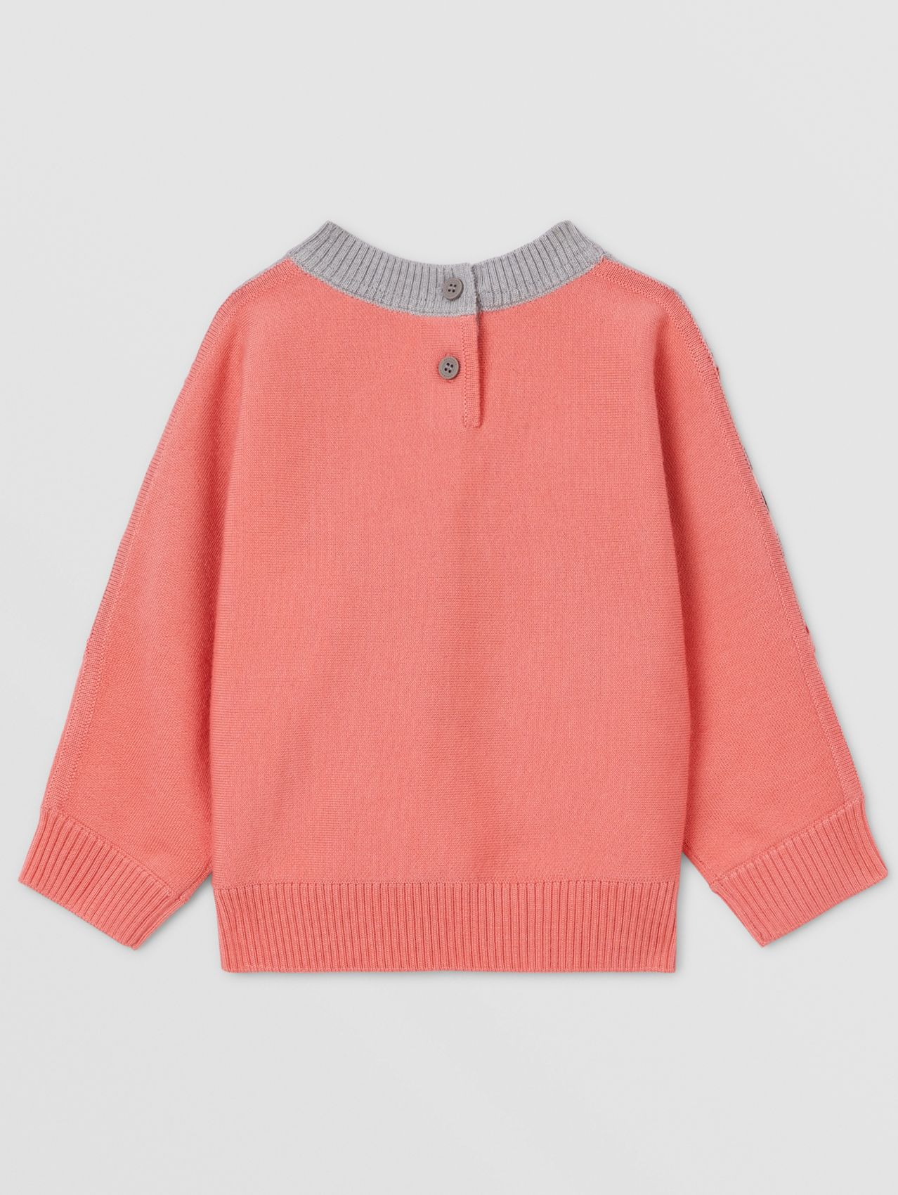 Unicorn Embroidered Technical Wool Sweater in Peach
