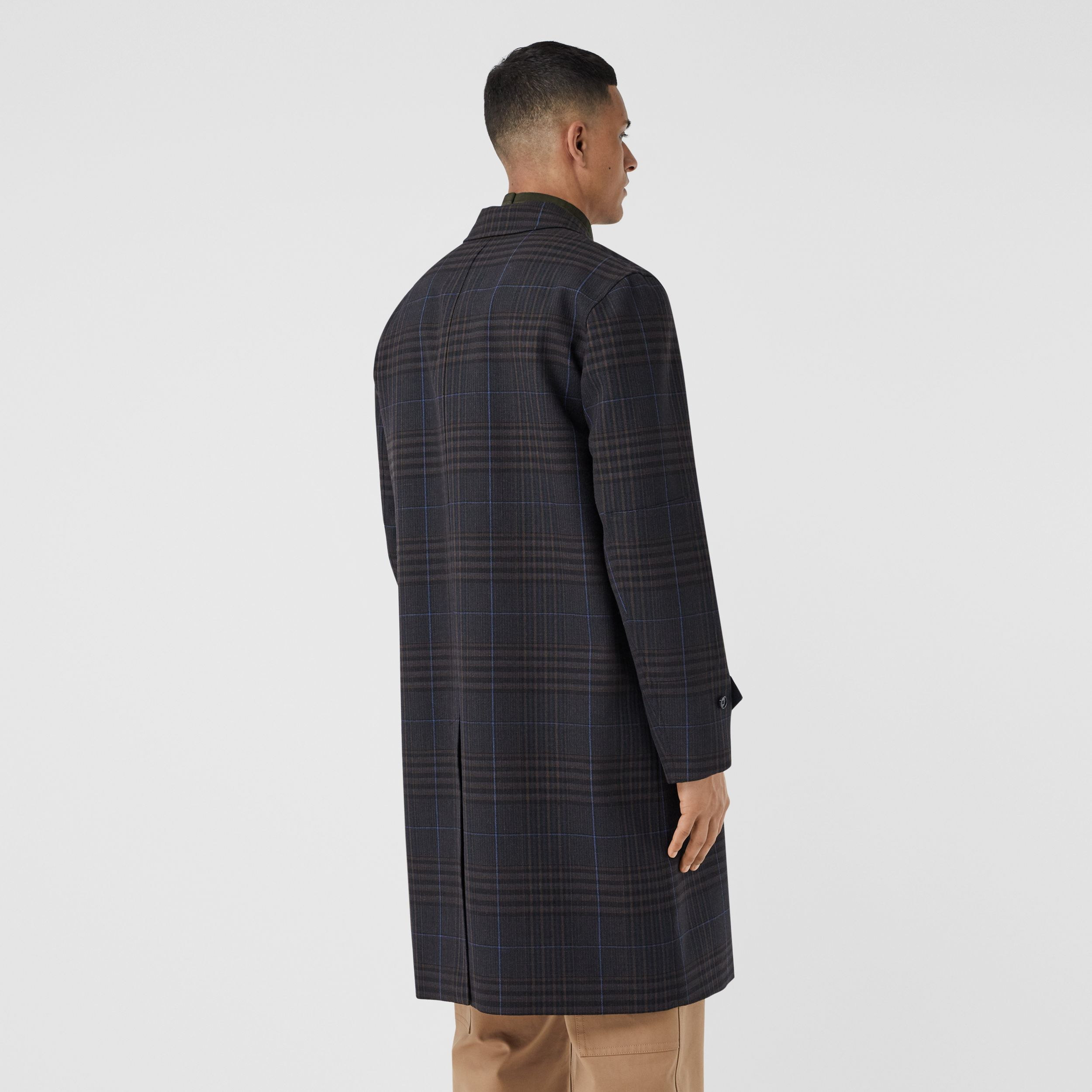 Check Wool Car Coat - Men | Burberry - 3