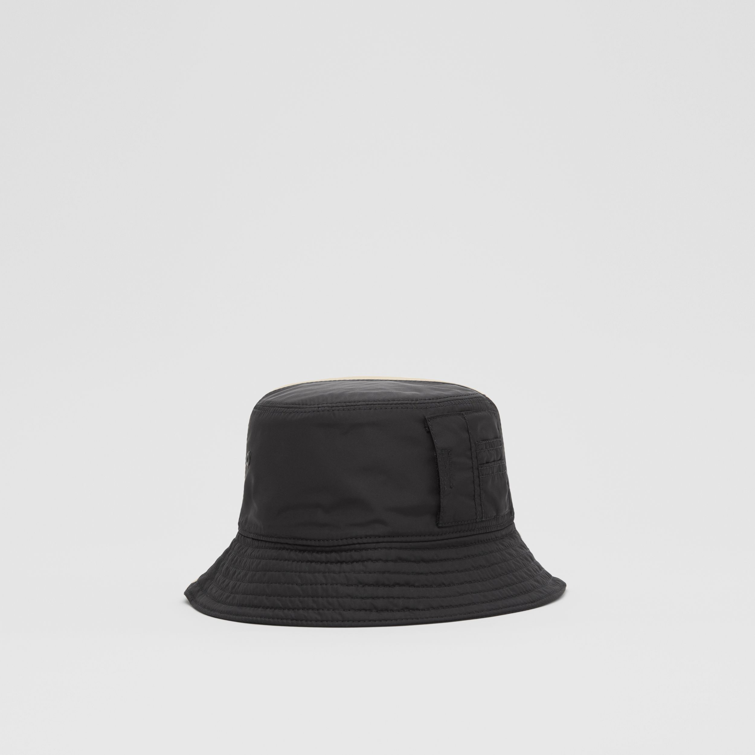 Nylon and Cotton Twill Bucket Hat in Soft Fawn | Burberry Singapore - 4