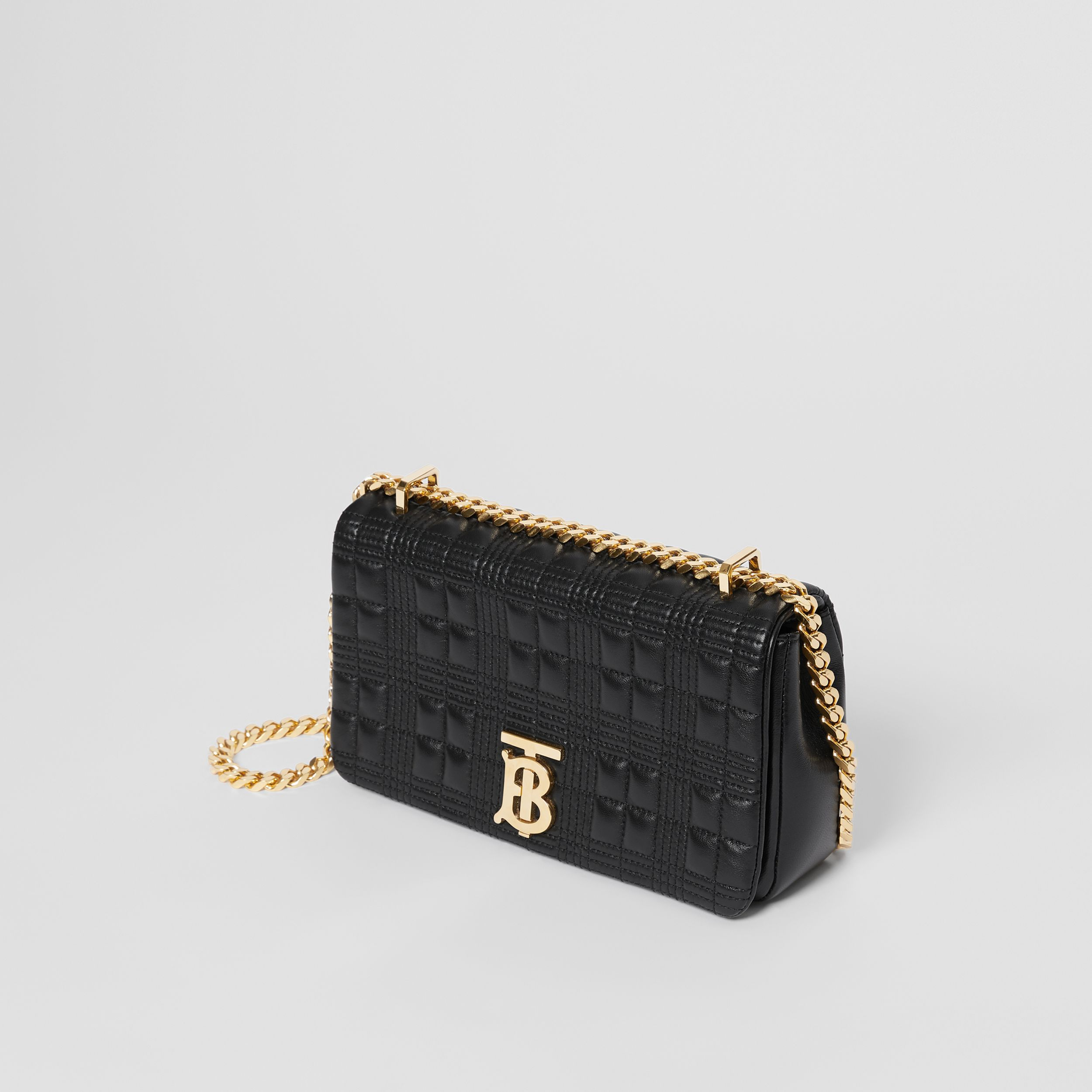 Small Quilted Lambskin Lola Bag in Black/light Gold - Women | Burberry - 4