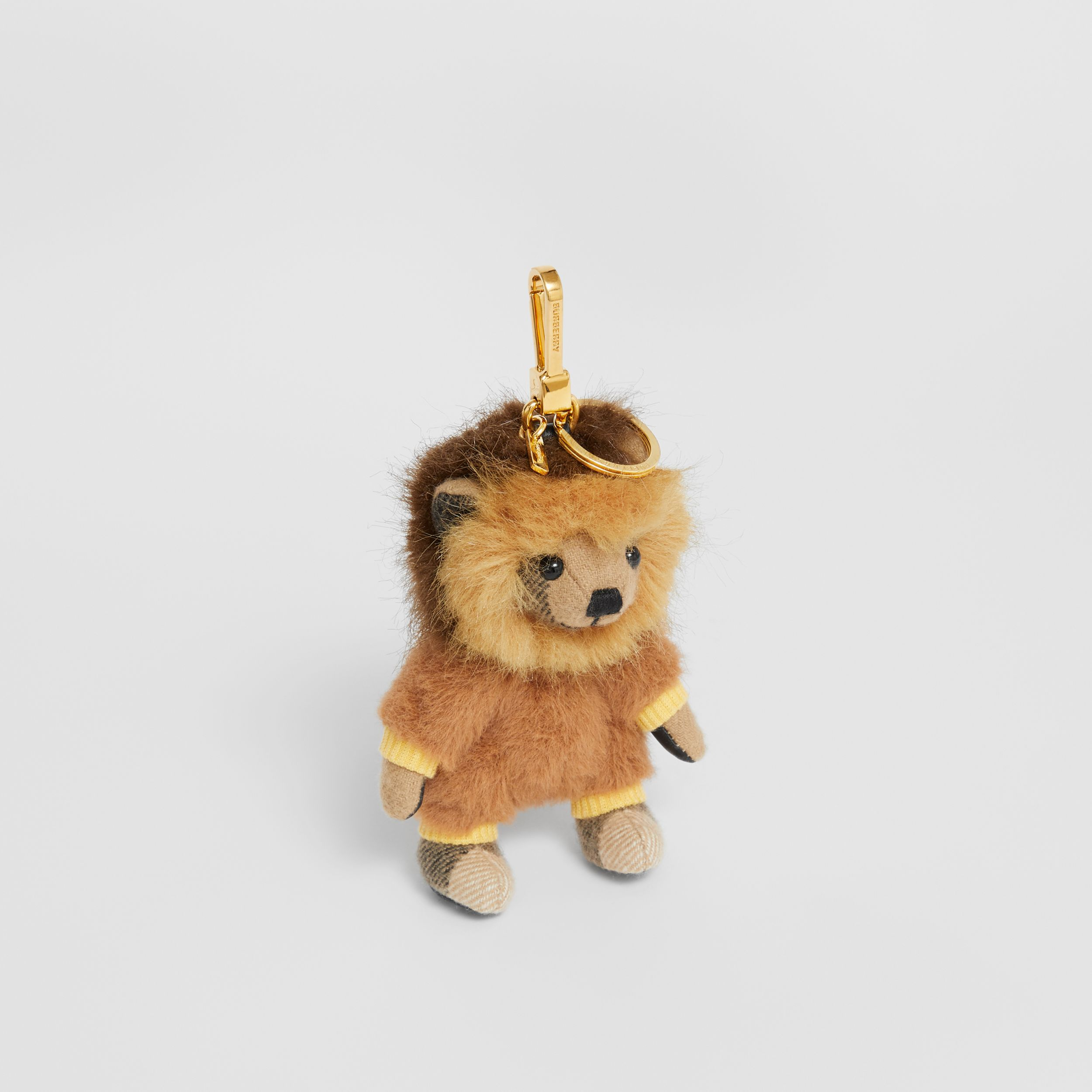 Thomas Bear Charm in Lion Costume in Archive Beige - Women | Burberry - 1