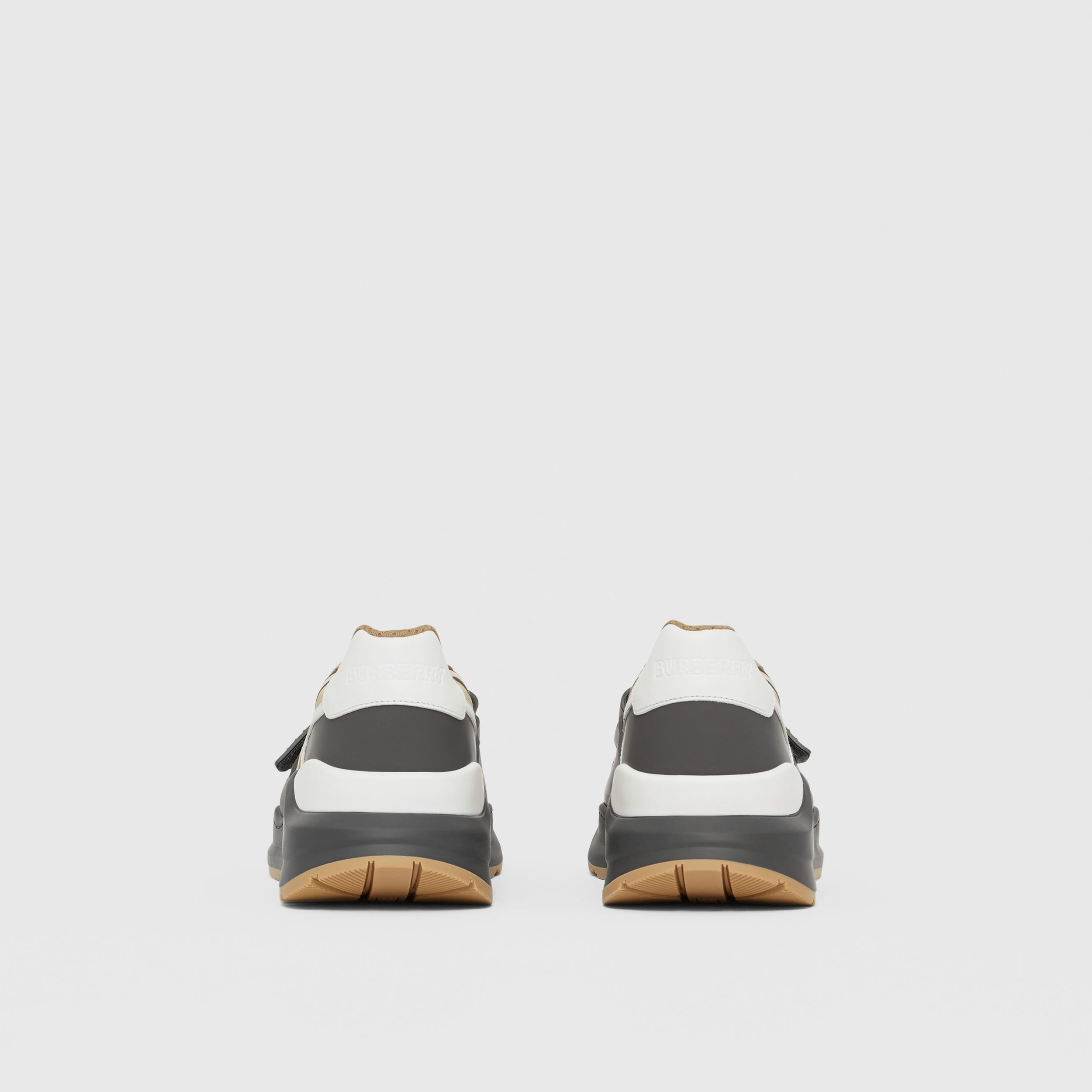 Vintage Check, Suede and Leather Sneakers in Grey/archive Beige - Men | Burberry - 4