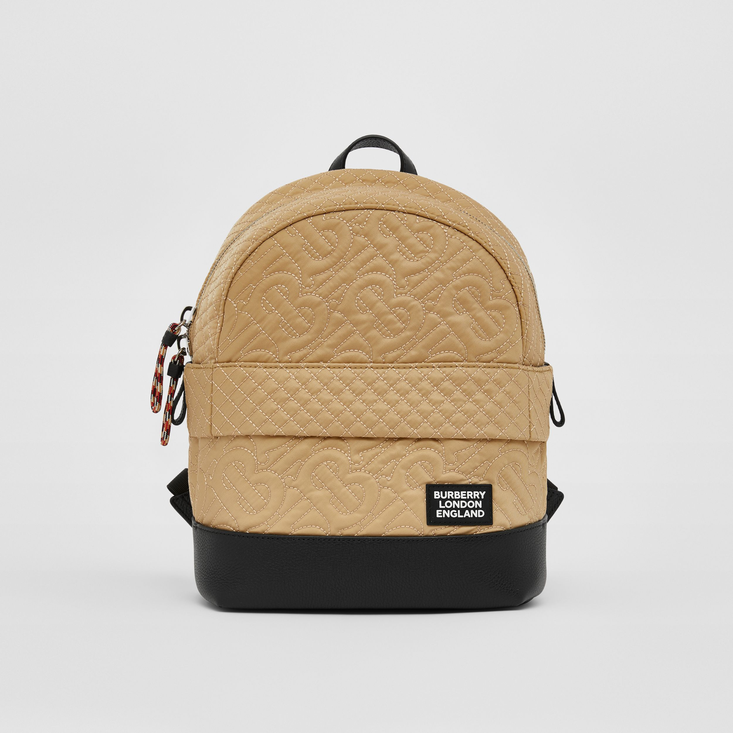 Monogram Quilted ECONYL® Backpack in Archive Beige - Children | Burberry - 1