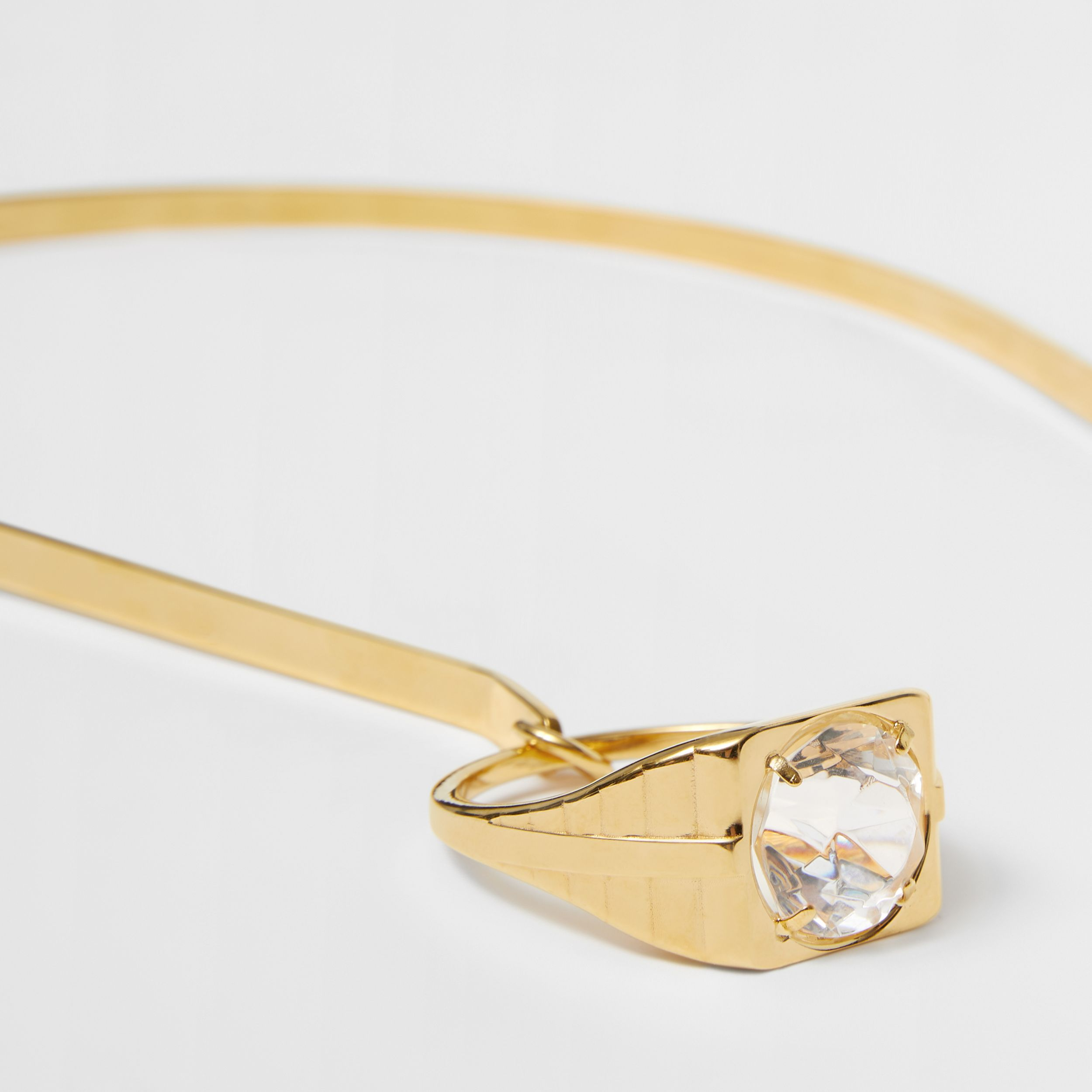 Ring Detail Gold-plated Hairband in Light Gold/crystal - Women | Burberry - 2
