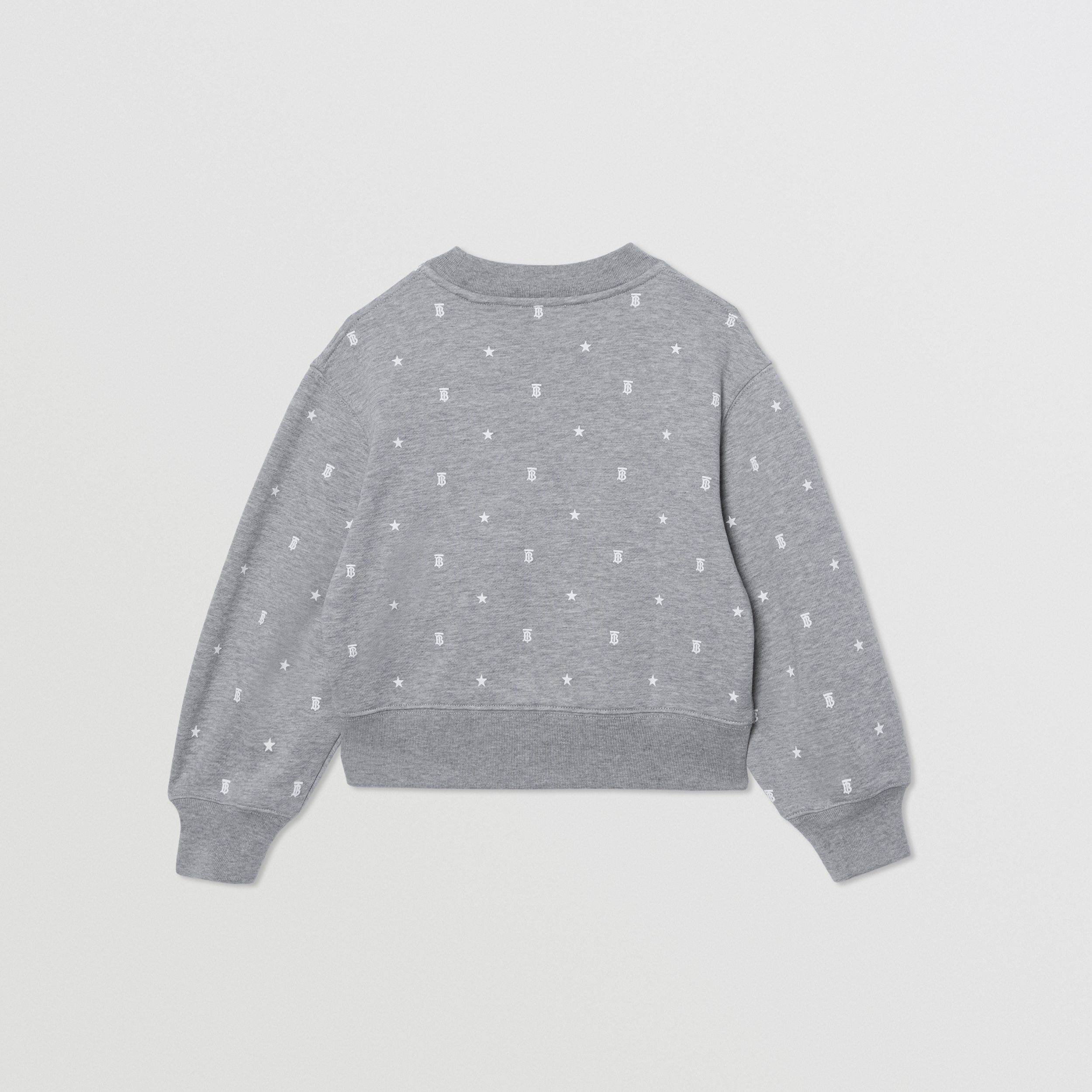 Star and Monogram Motif Cotton Sweatshirt in Grey | Burberry - 4