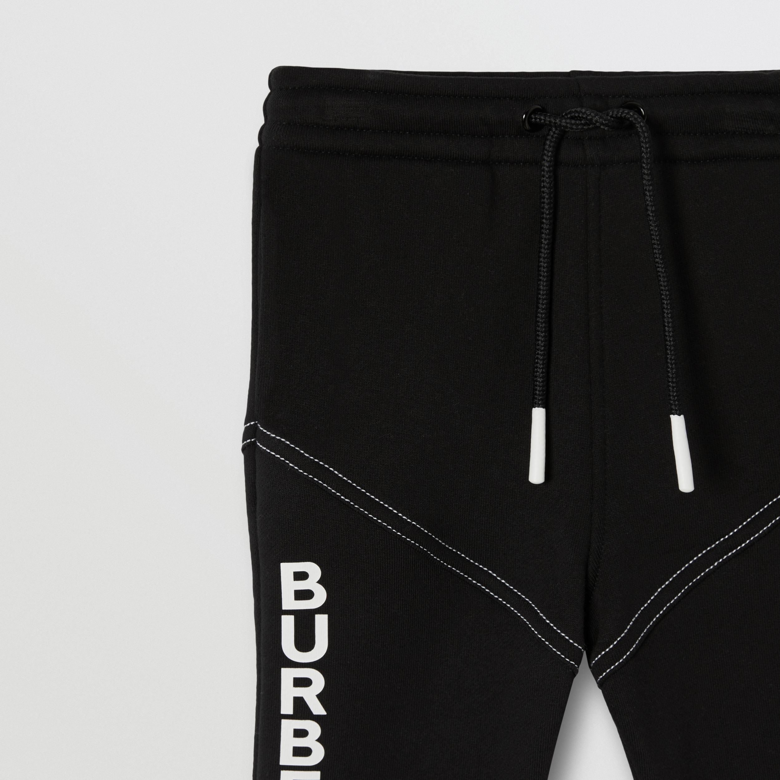 Logo Print Cotton Jogging Pants in Black - Children | Burberry - 3