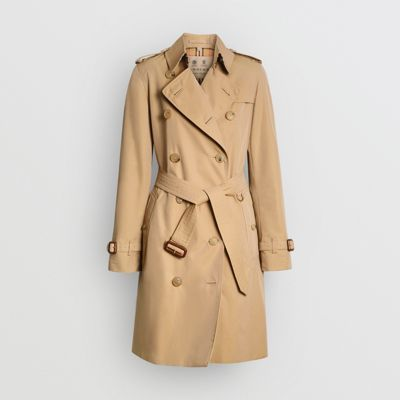 The Mid length Chelsea Heritage Trench Coat in Grey Men | Burberry United States