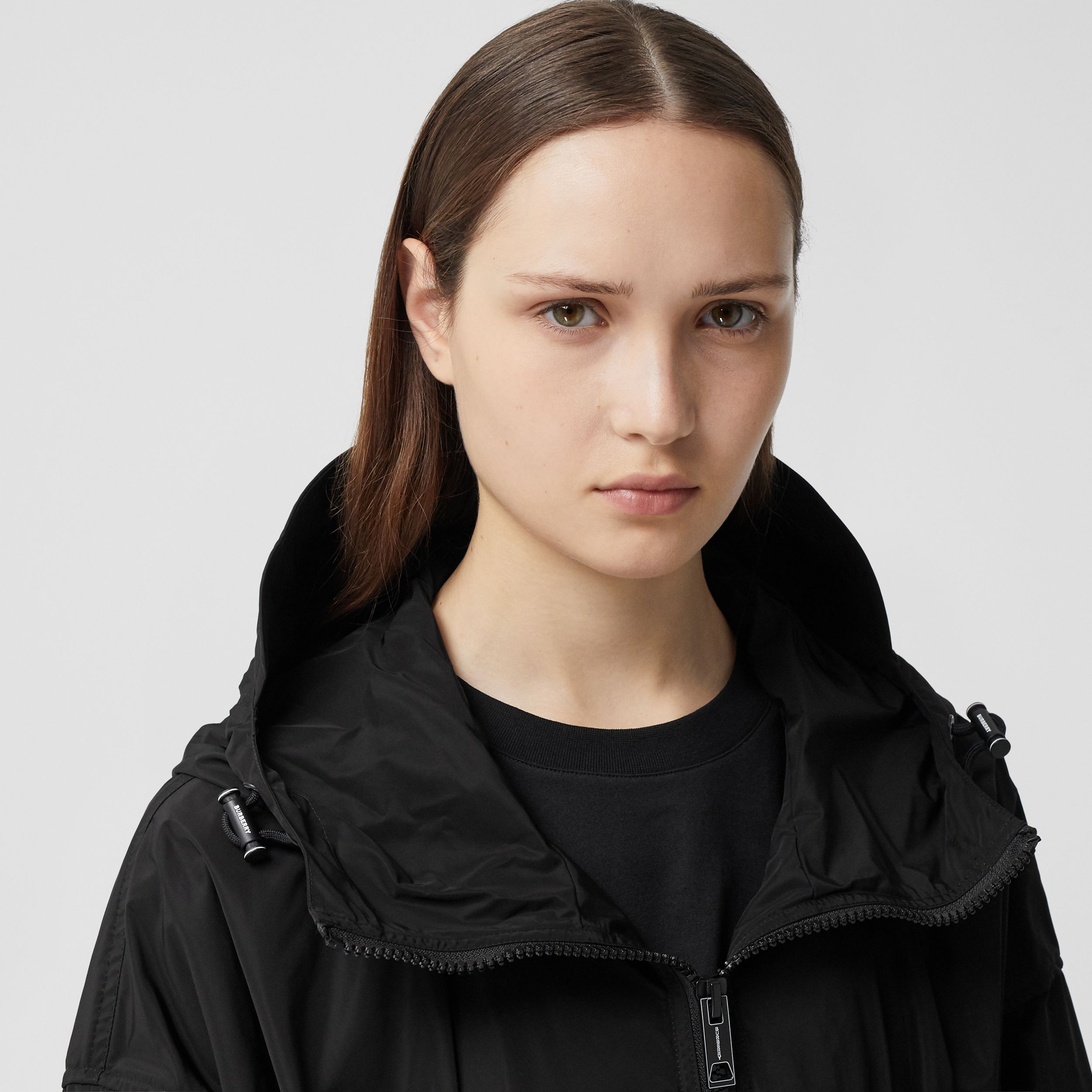 Logo Tape Shape-memory Taffeta Hooded Jacket - Women | Burberry - 2